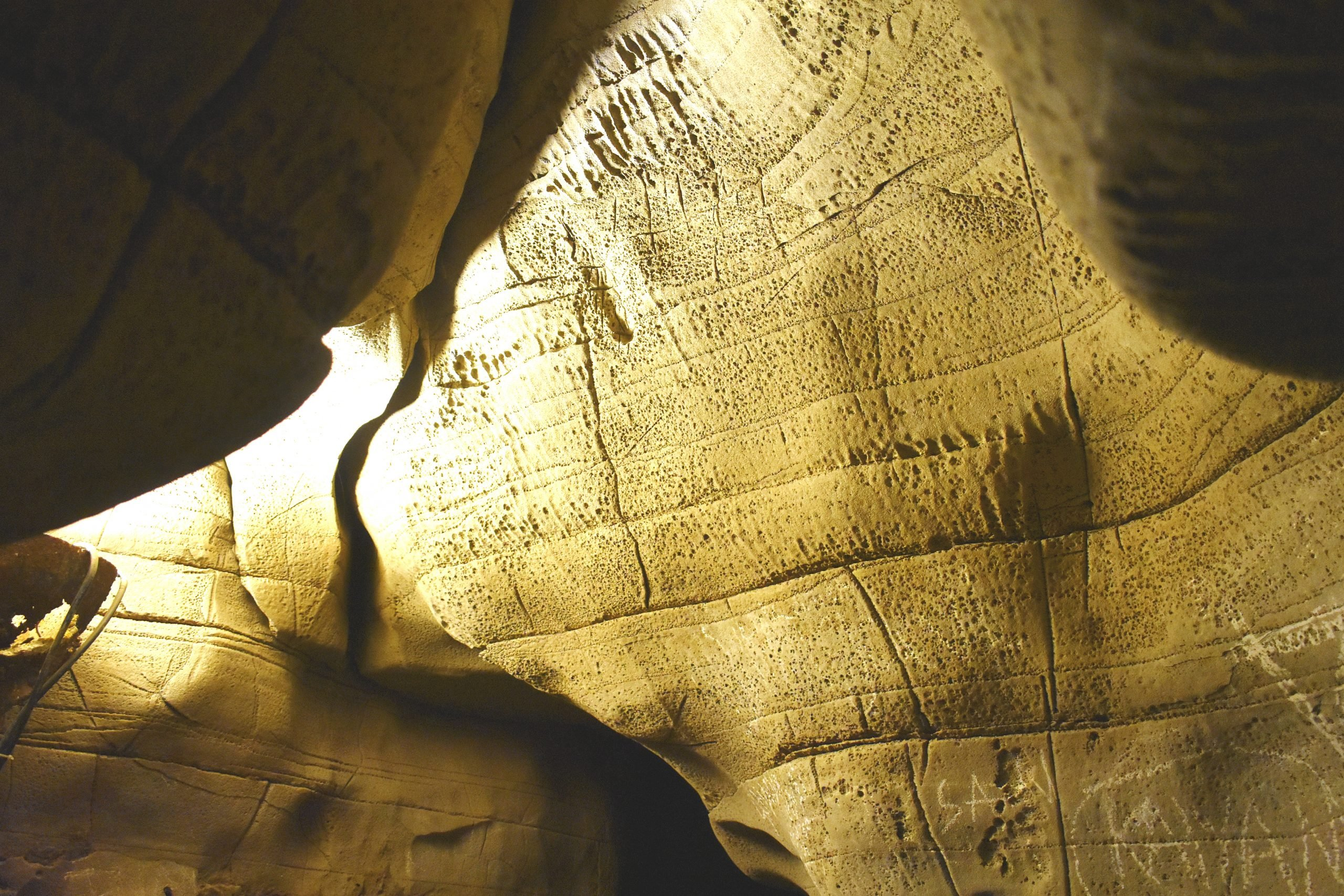 Rock texture inside a cave