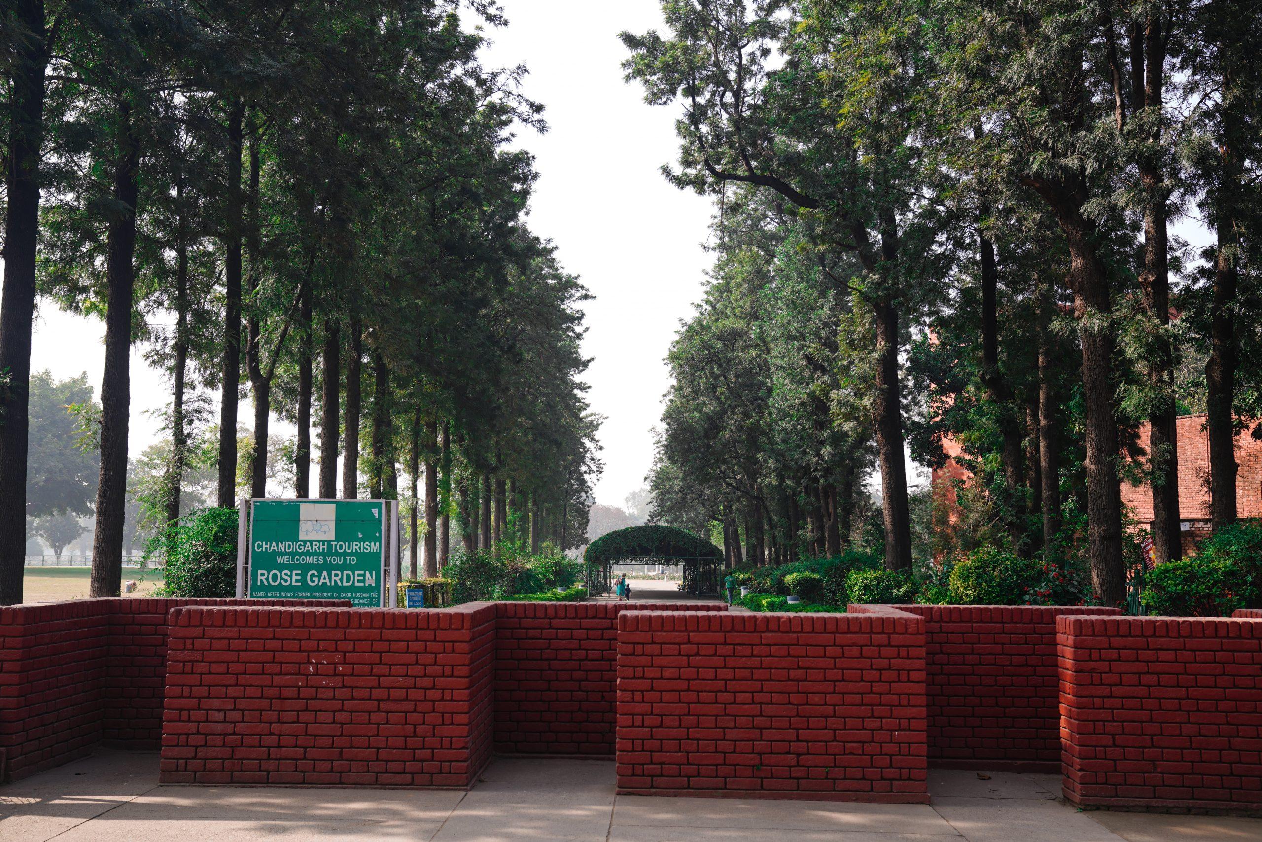 Rose garden entrance