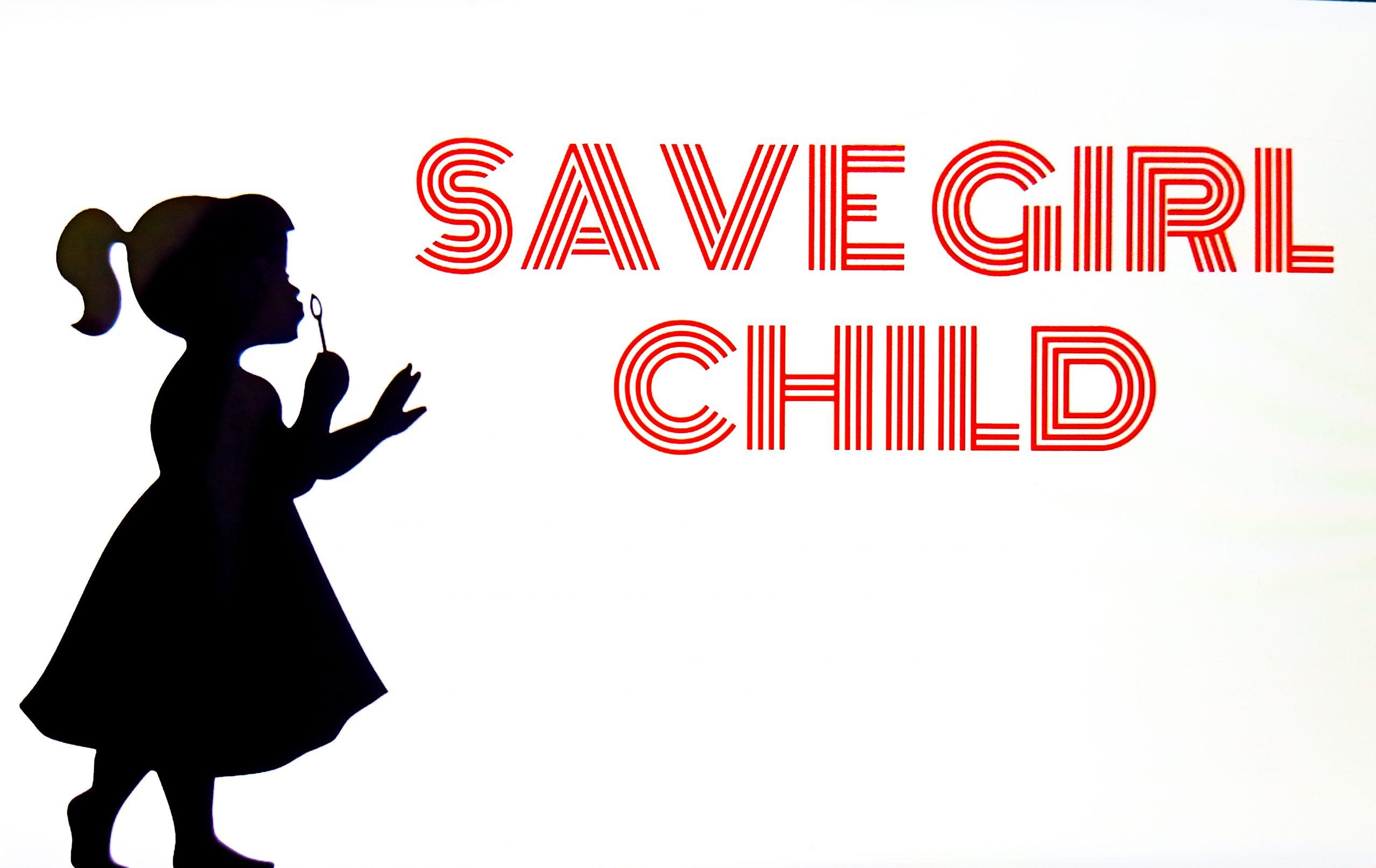 Save the girls illustration
