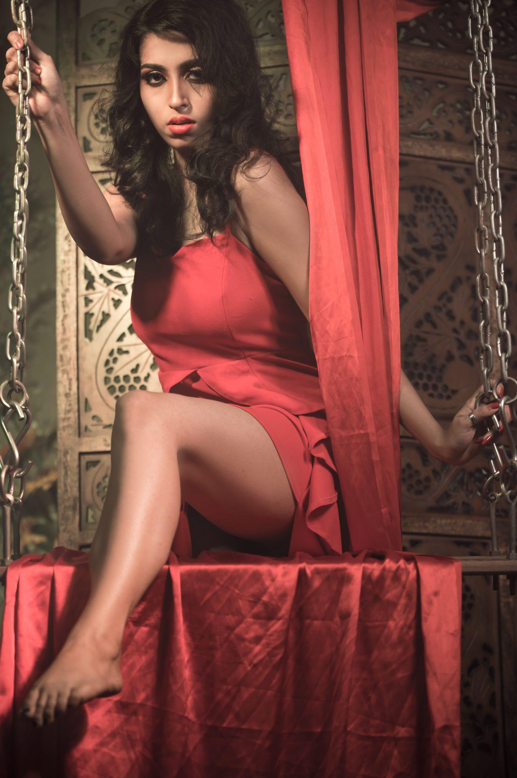 A sensual girl