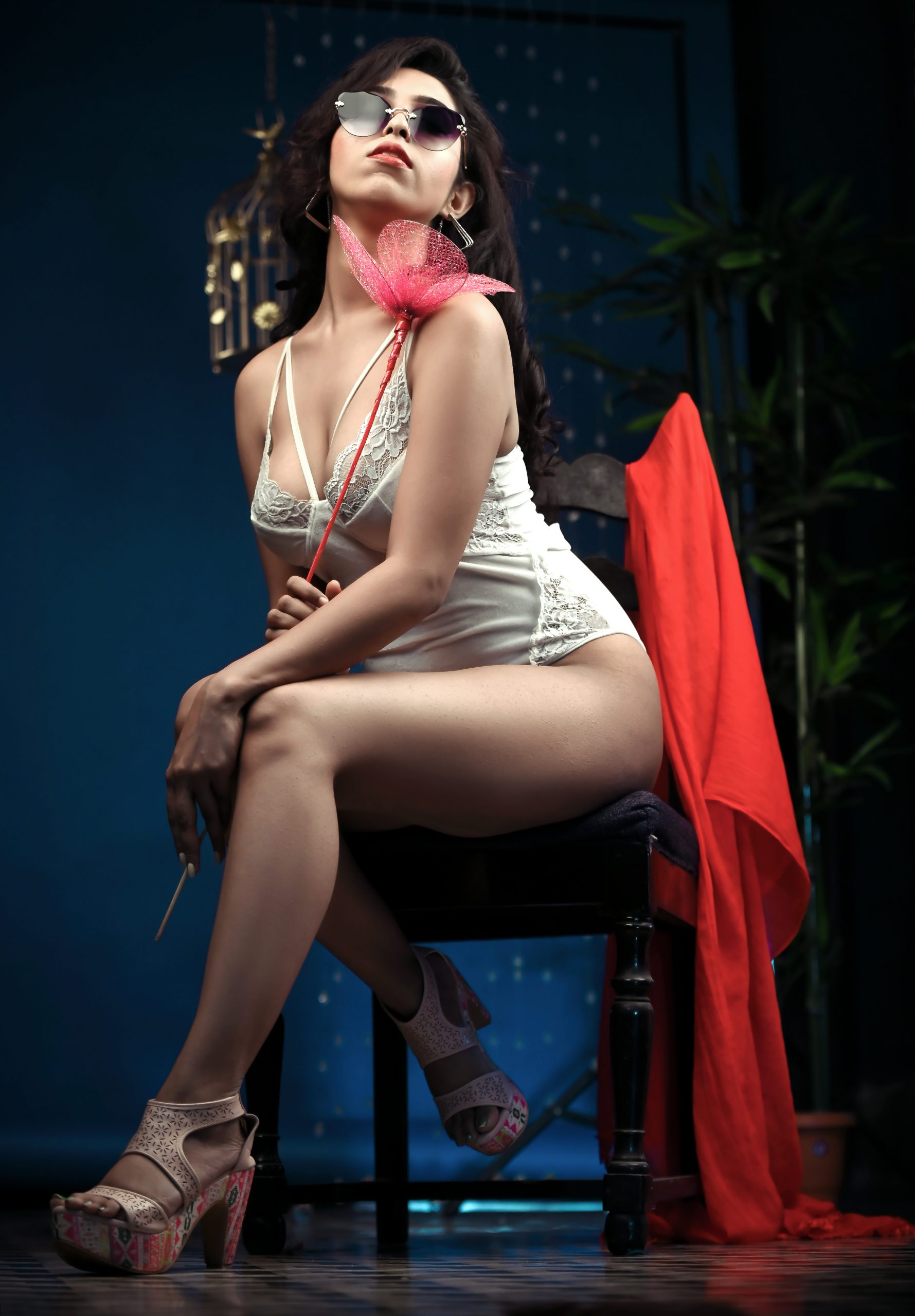 Sexy female model posing