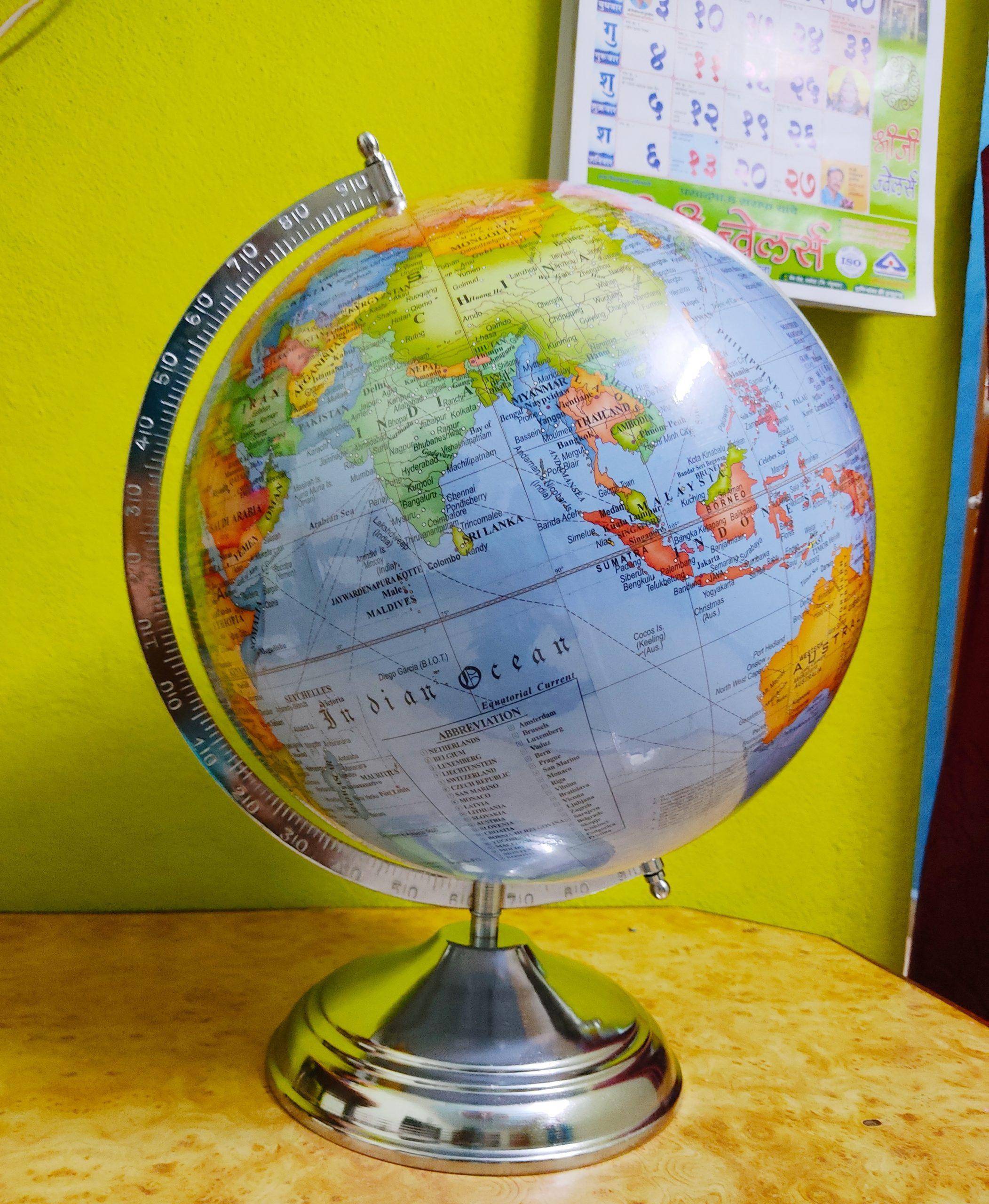 Sphere globe map