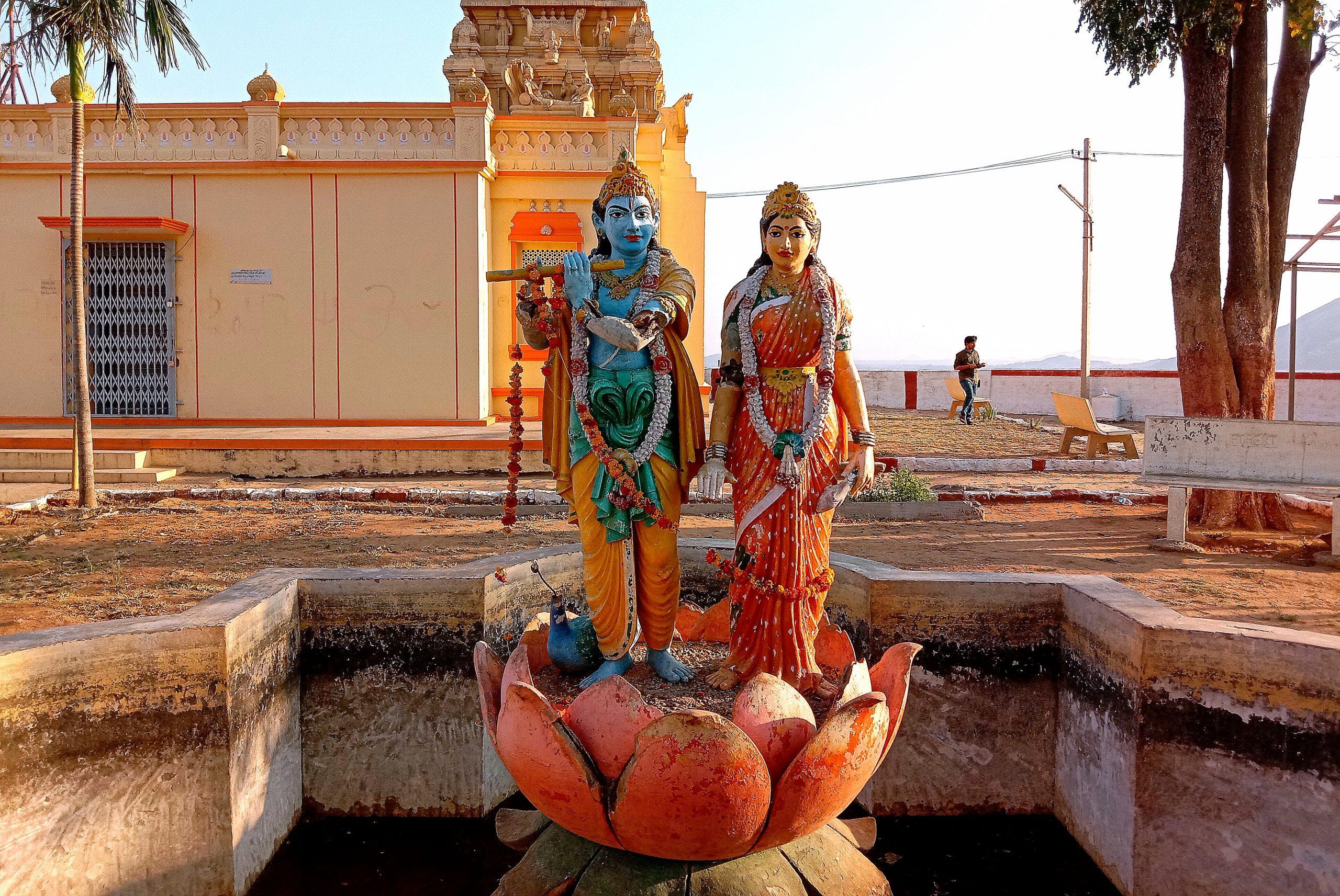 Statue of Lord Krishna with Radha