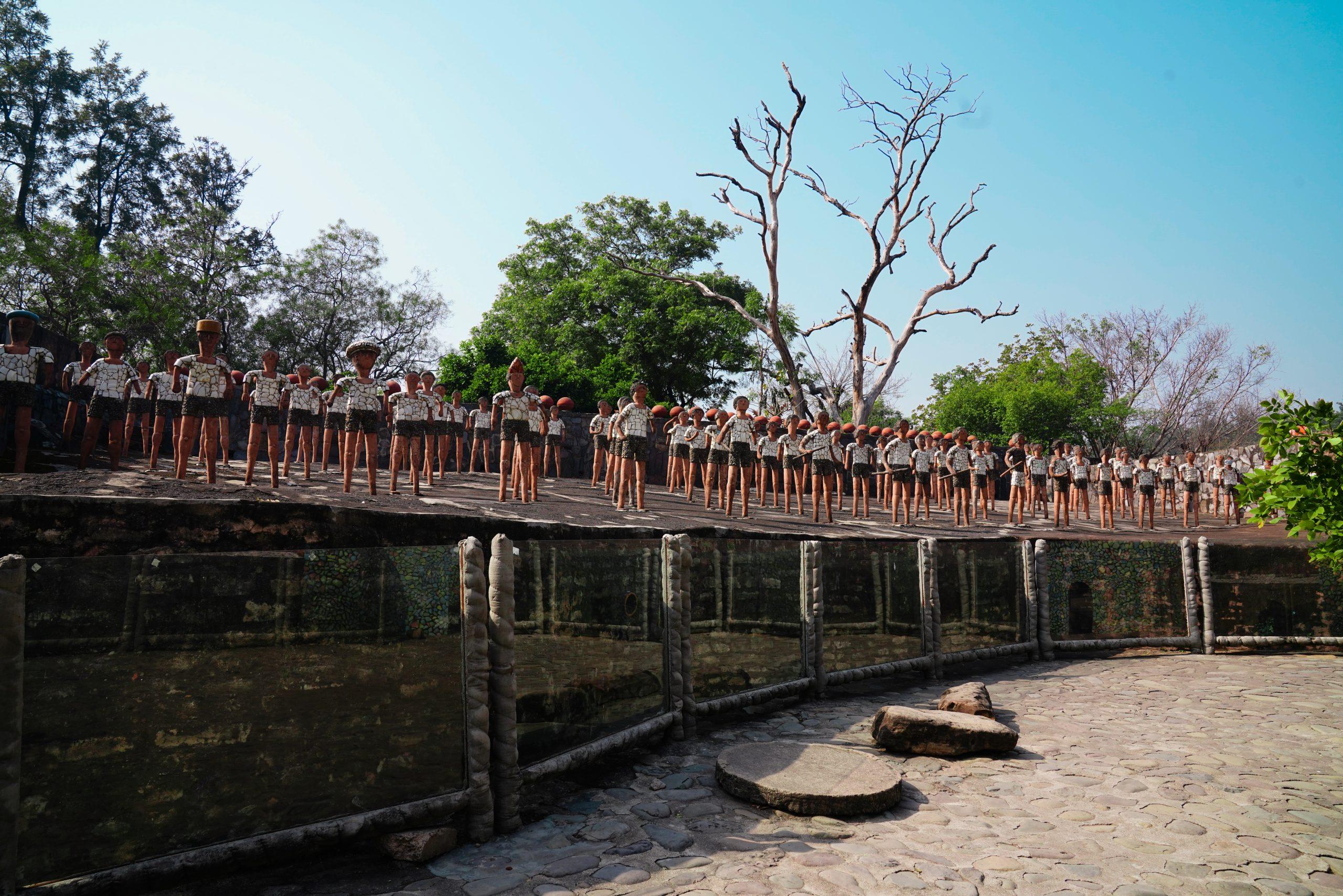 Statues in a rock garden, Chandigarh