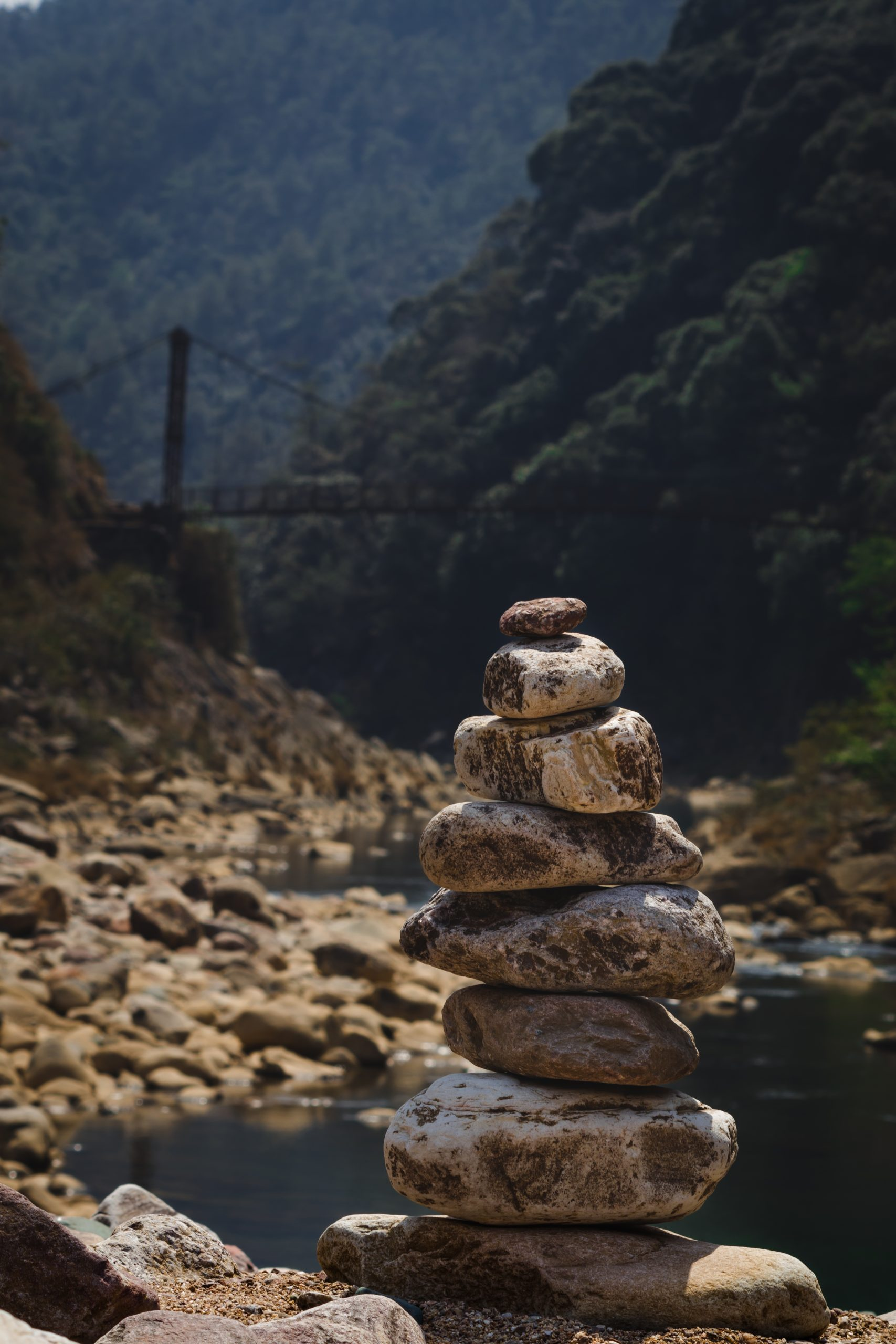 Stones pyramid