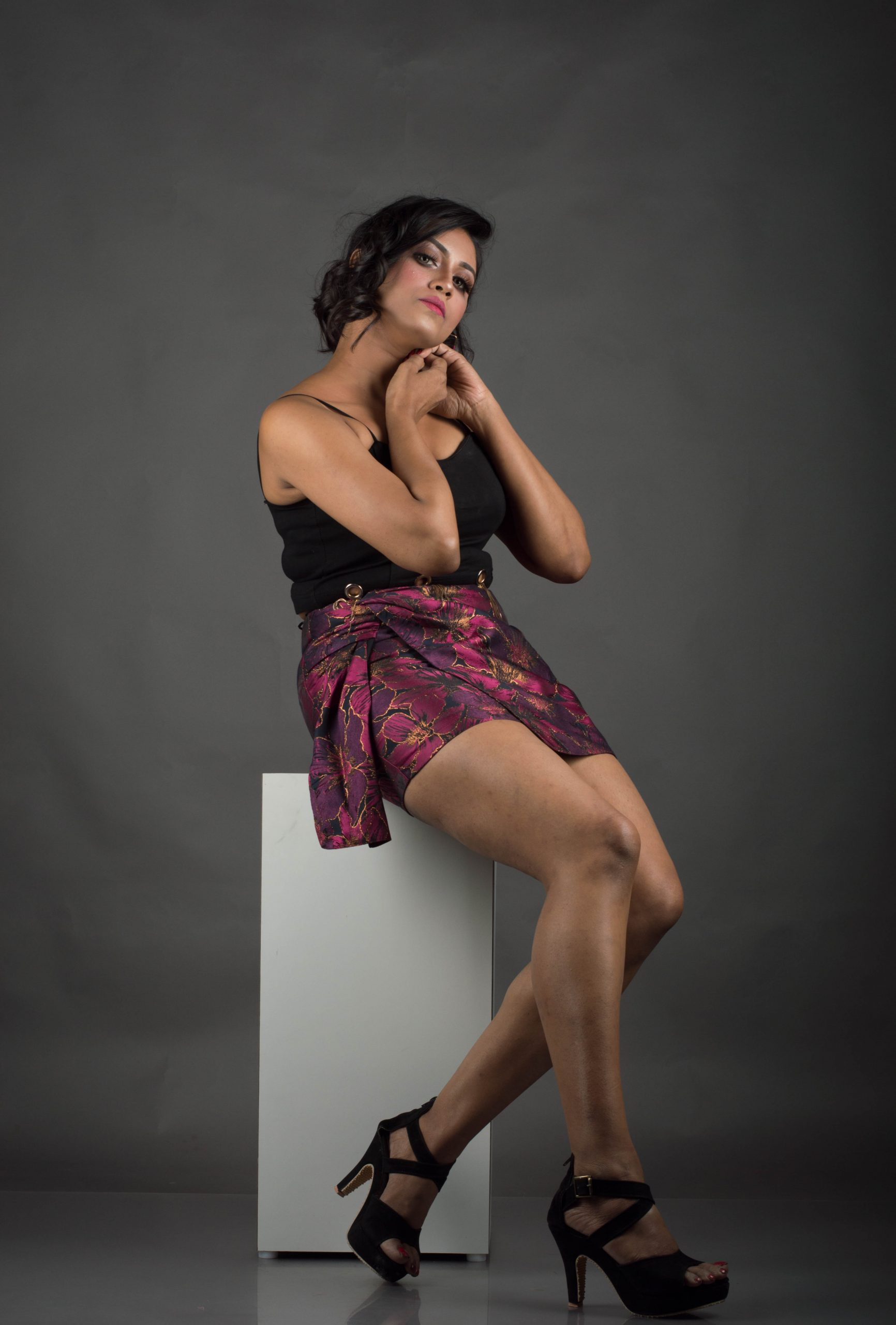 Stylish girl posing