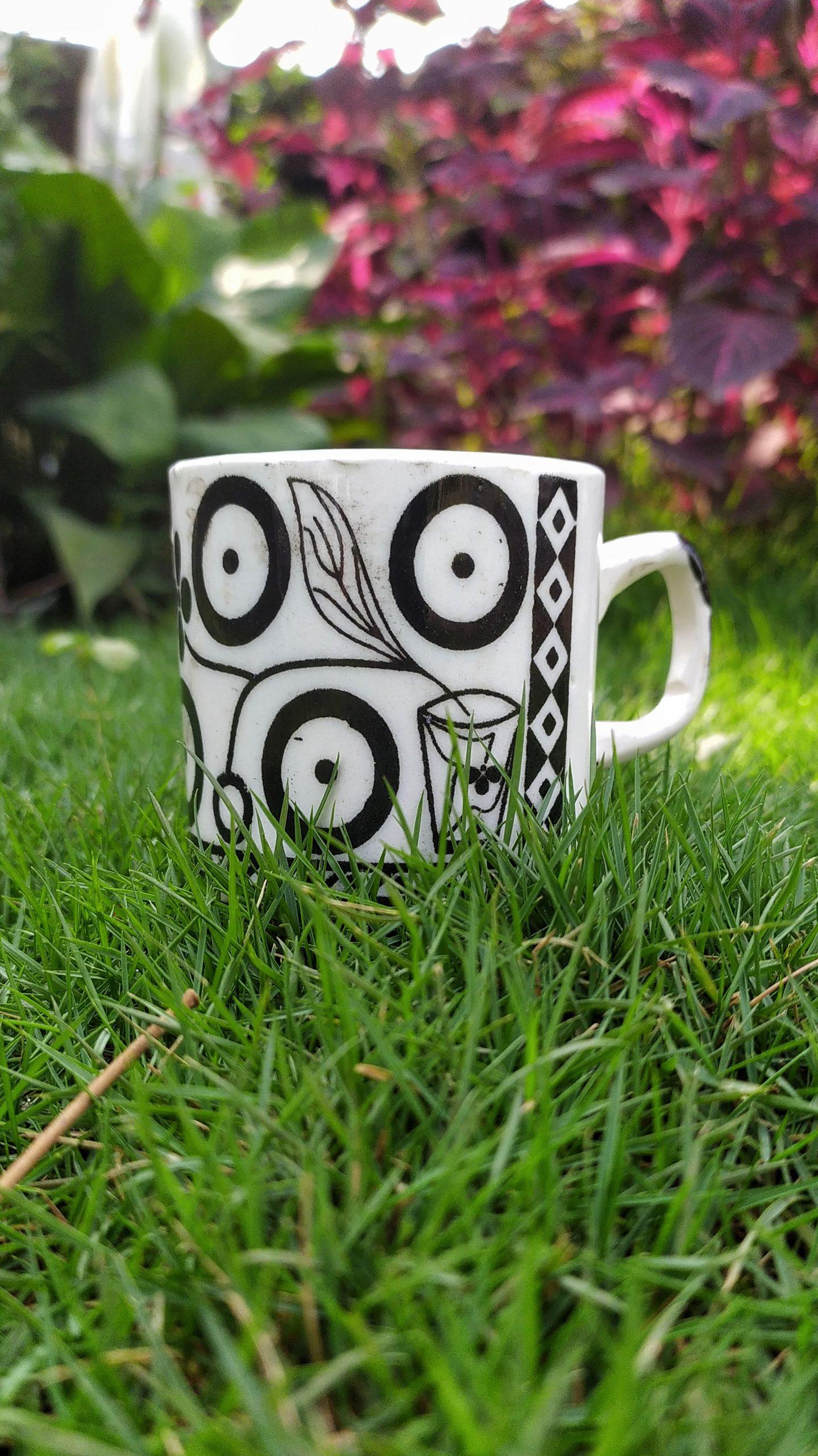 Cup in garden