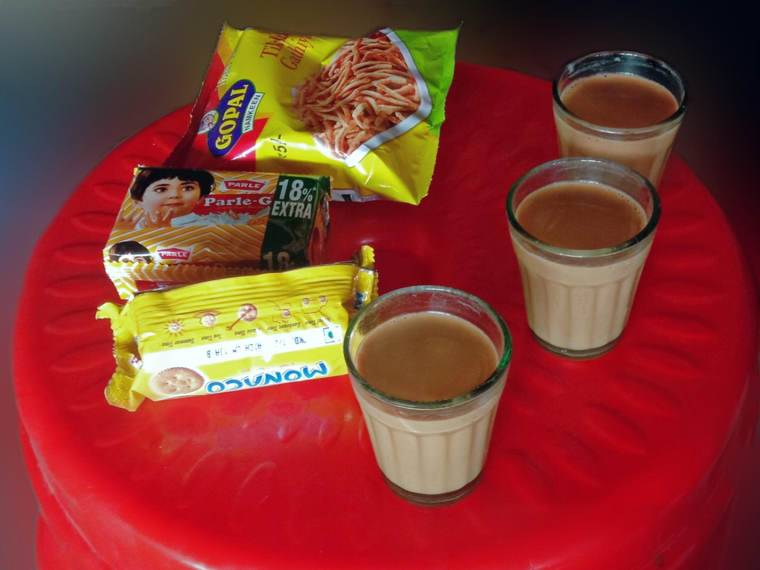 Tea with snacks