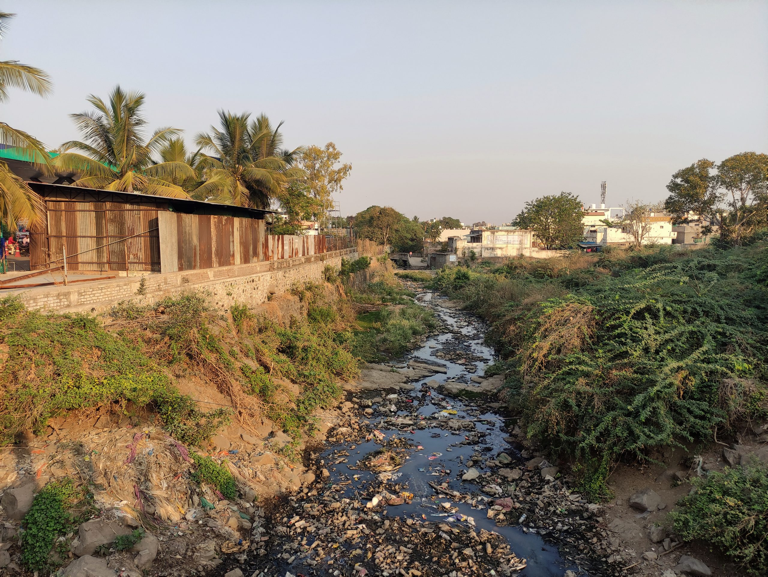 City water drainage canal
