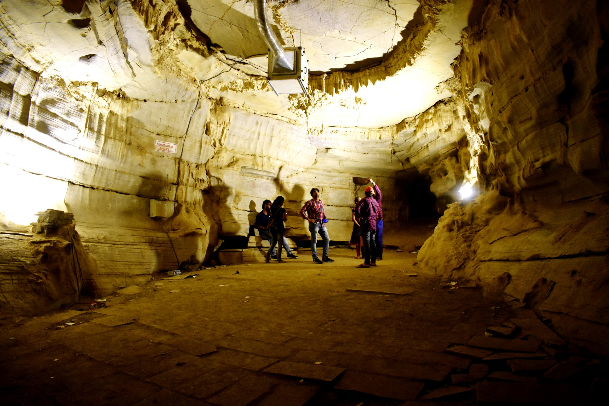 Tourists inside Belum caves in Andhra Pradesh