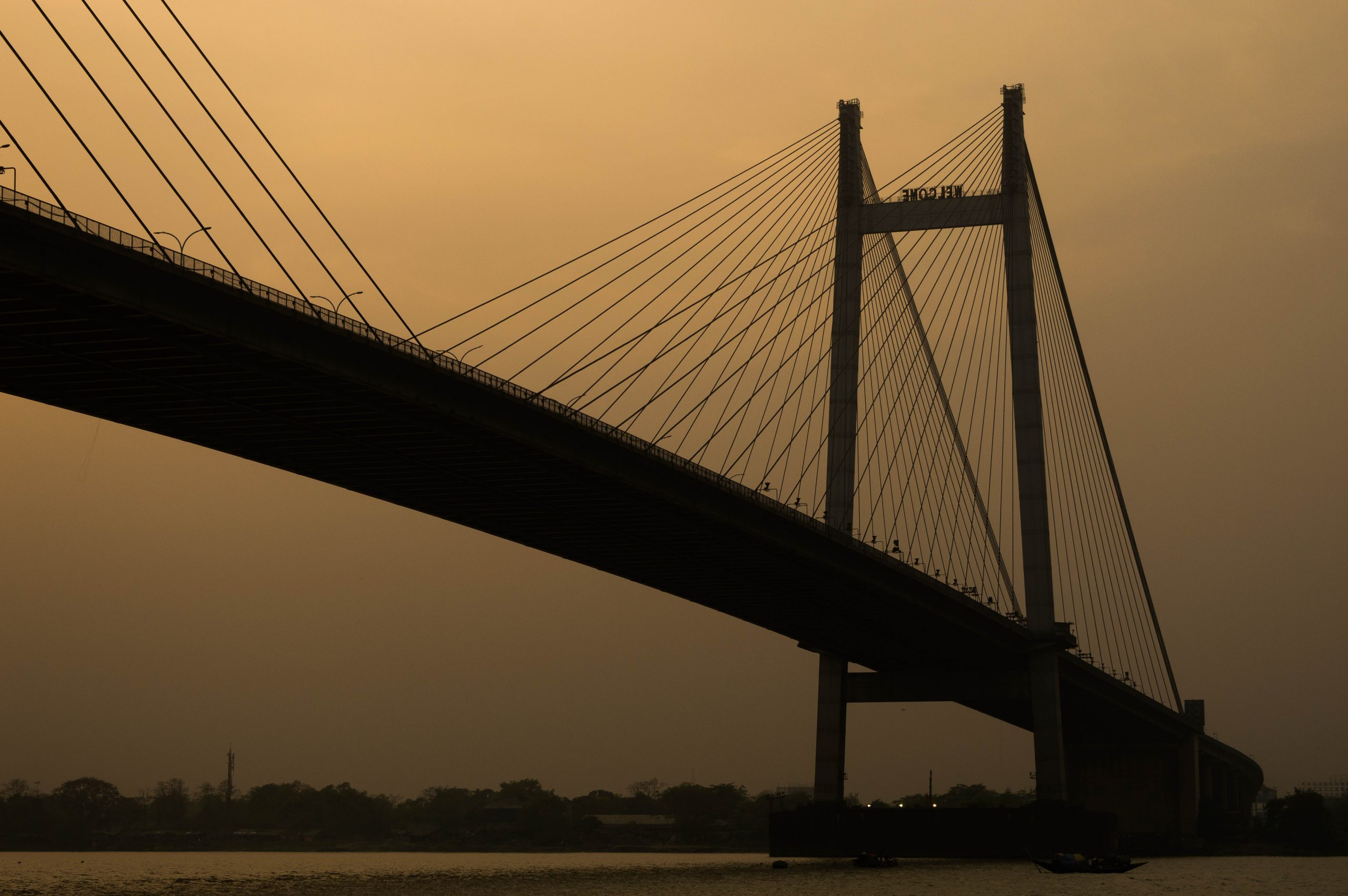 Vidyasagar bridge in Kolkata during evening