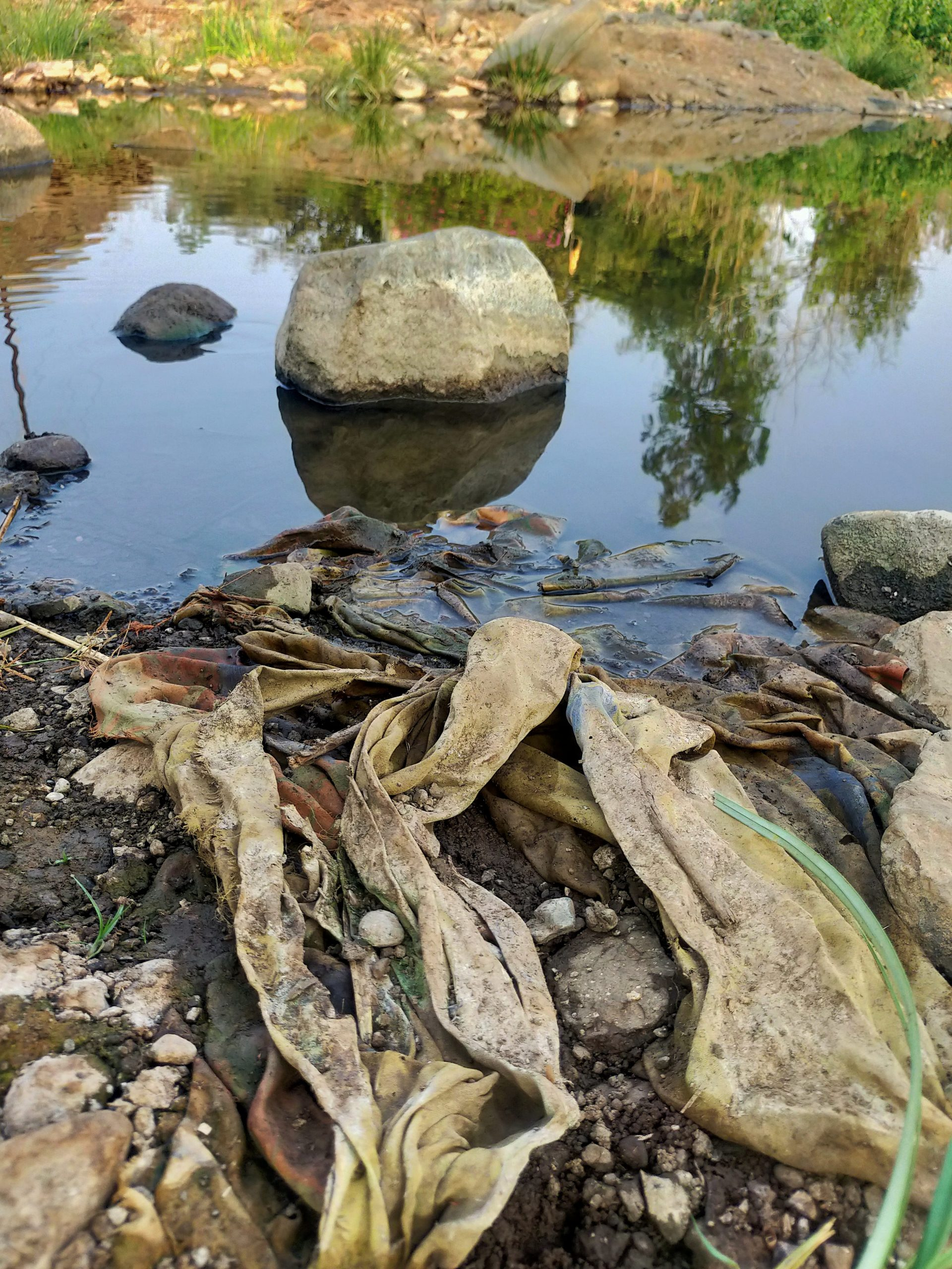 Waste materials in water