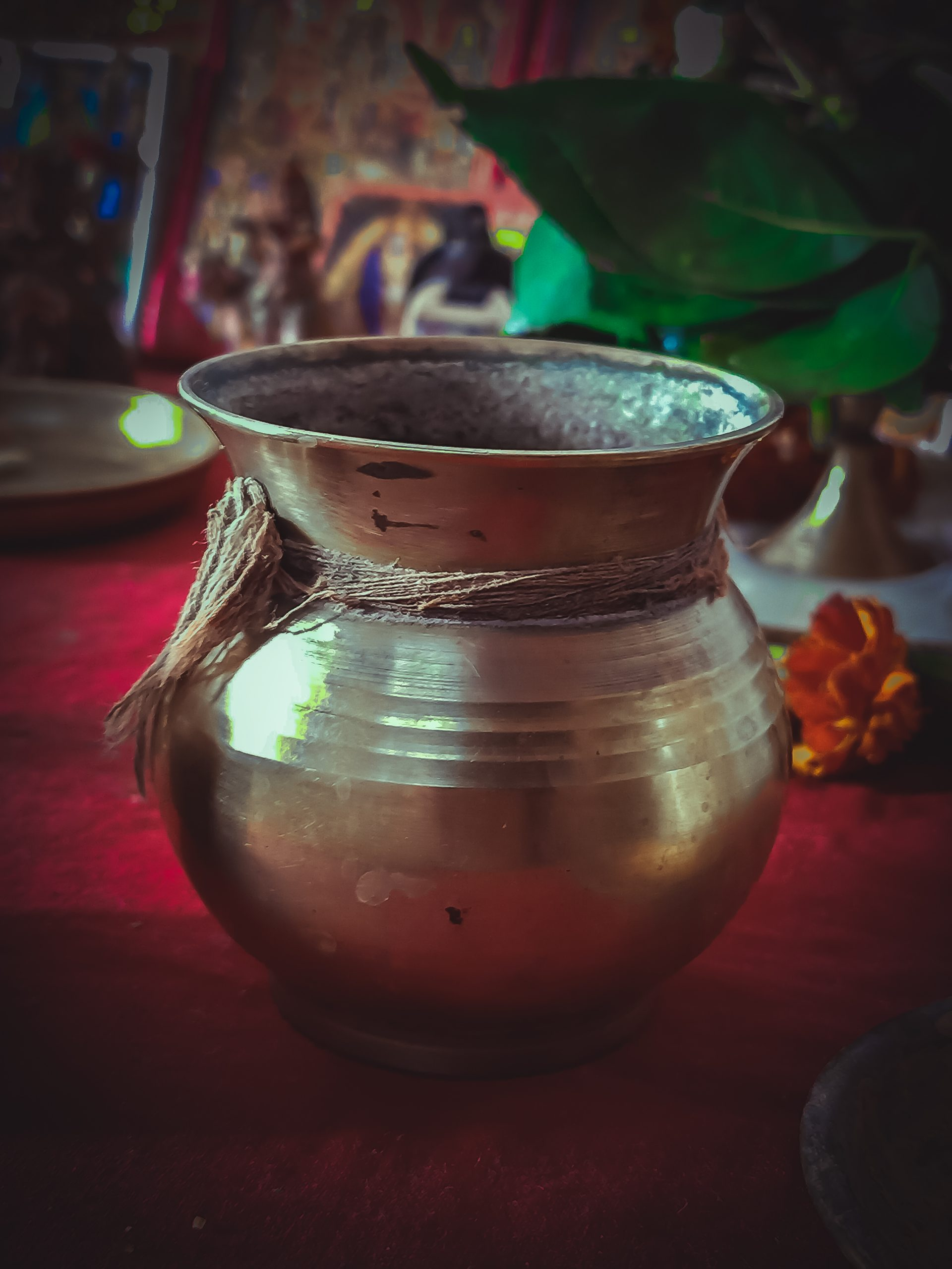 Ewer with a holy water on a religious event