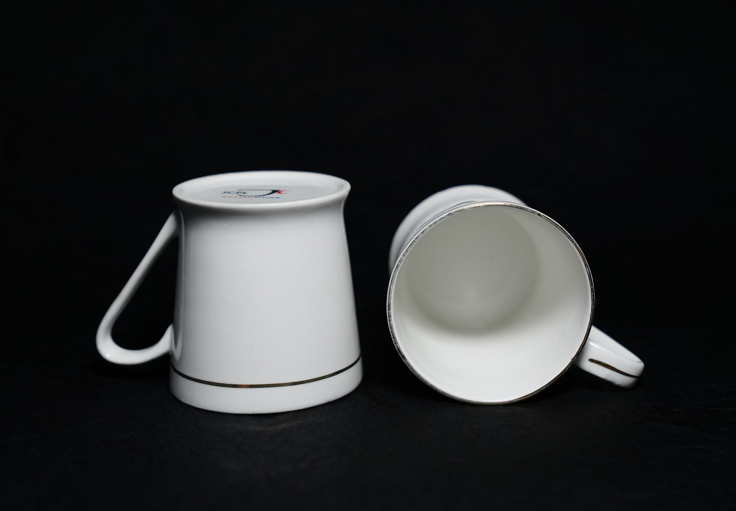 White tea cups