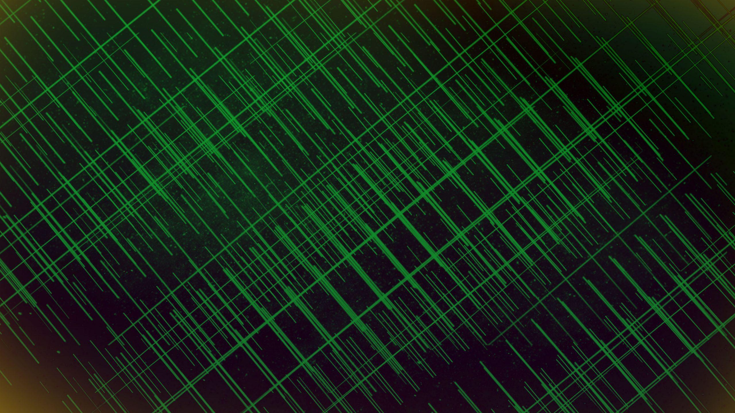 Green Spike shaped wallpaper