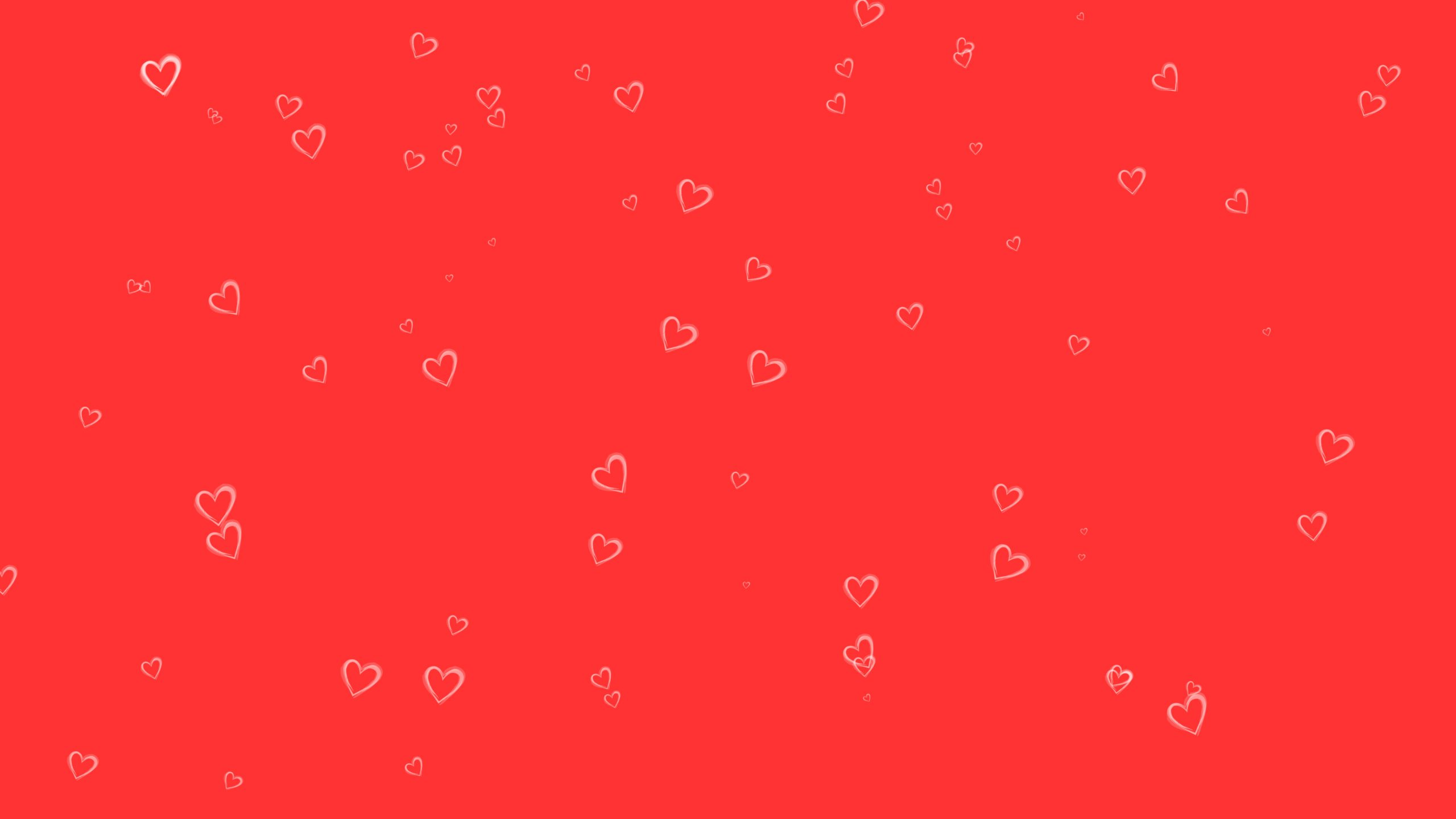 Heart shape and red background wallpaper
