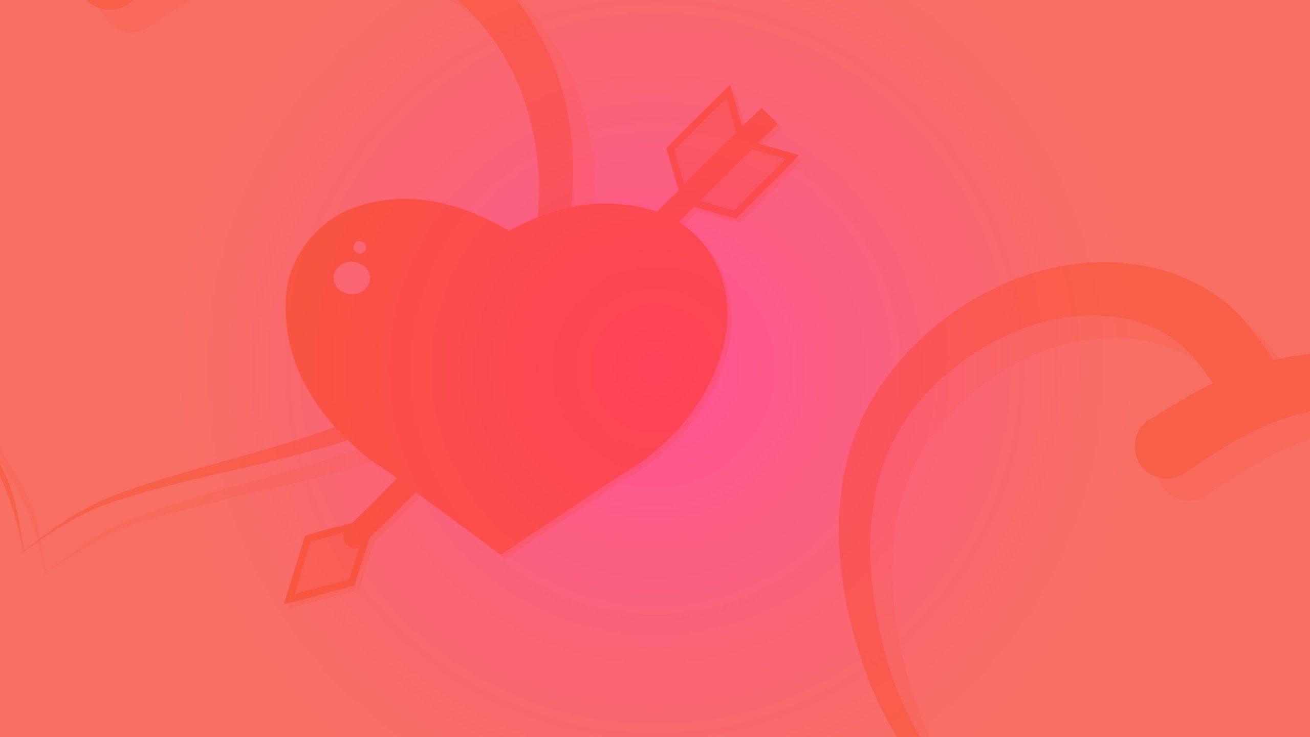 Heart shape wallpaper