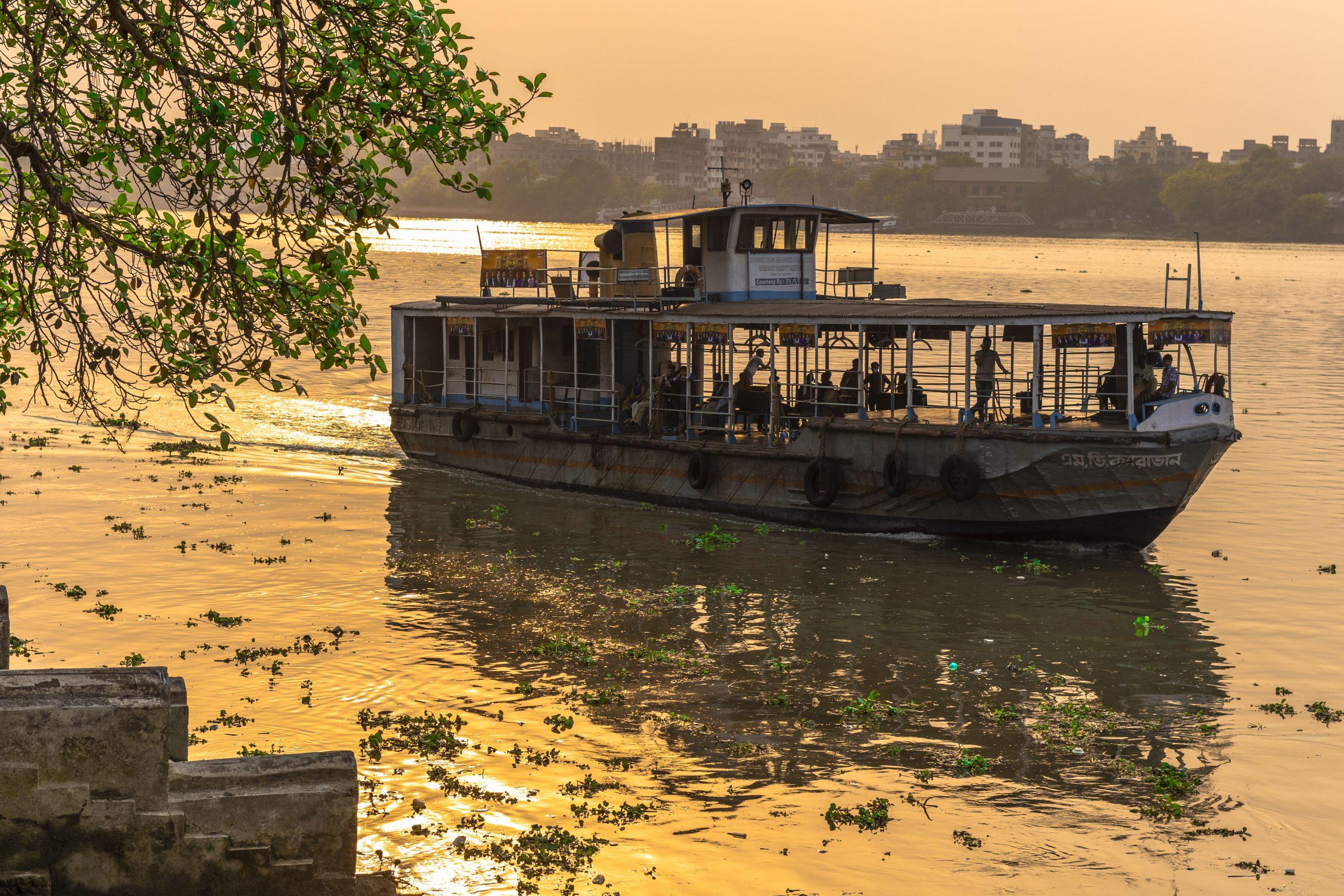 Passenger boat in Ganga river
