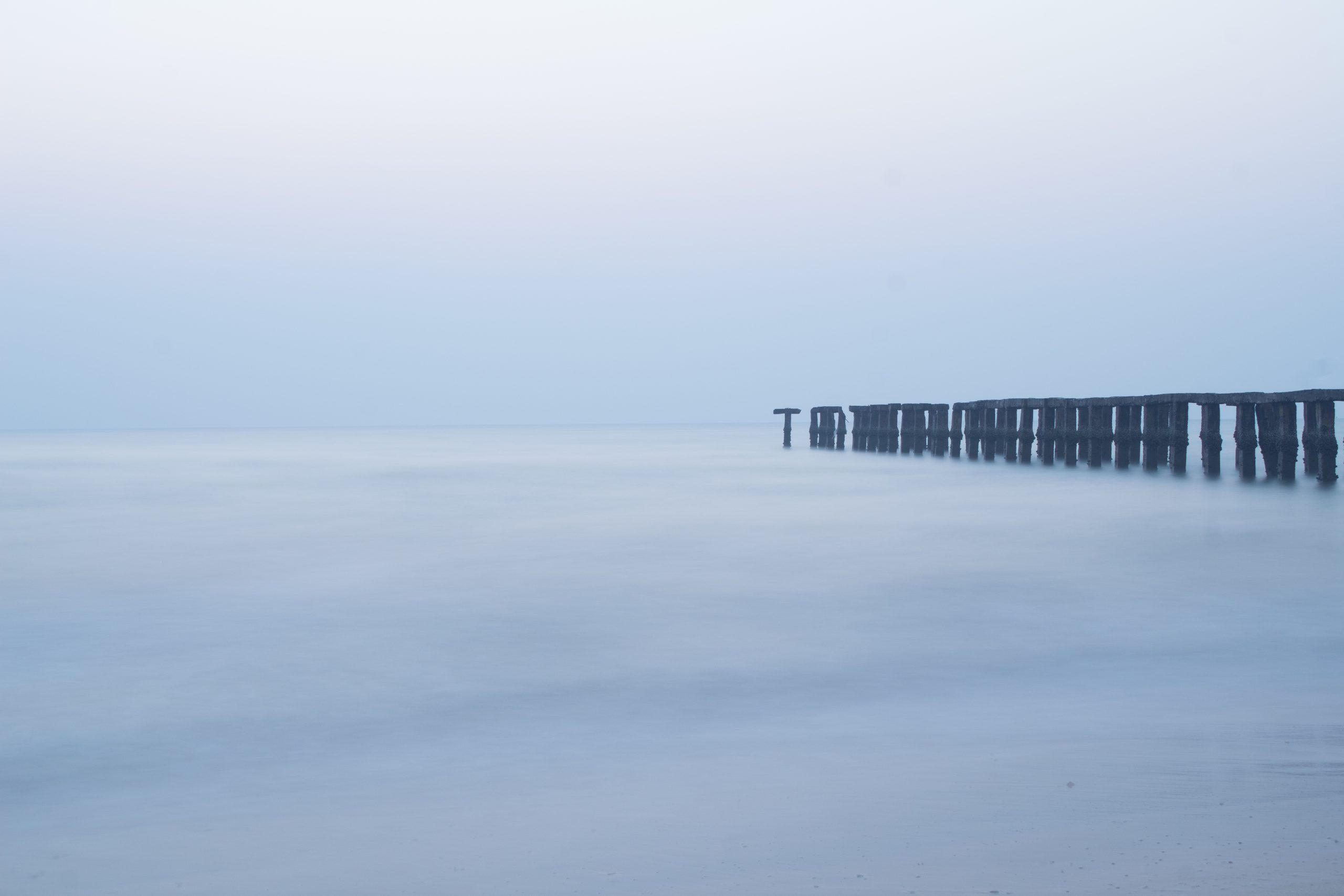 long exposure of sea