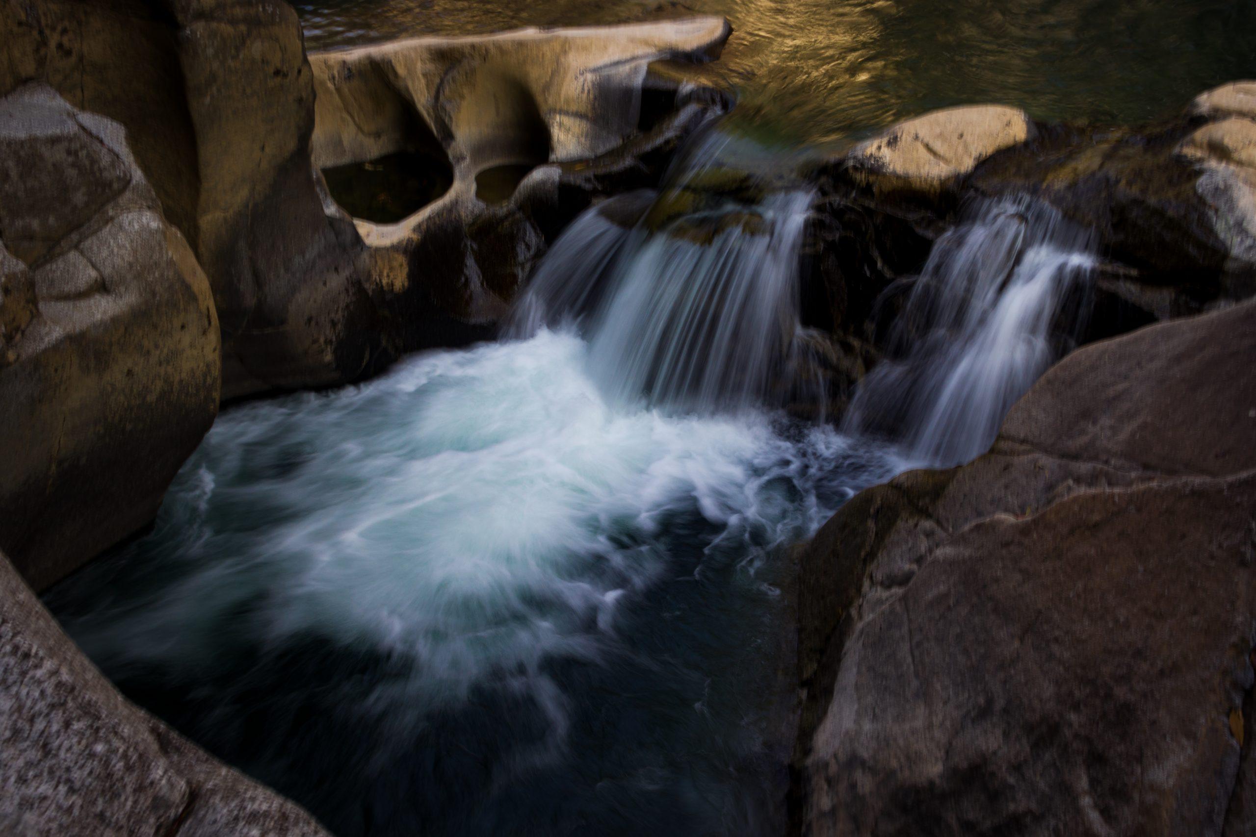 Landscape of beautiful waterfall