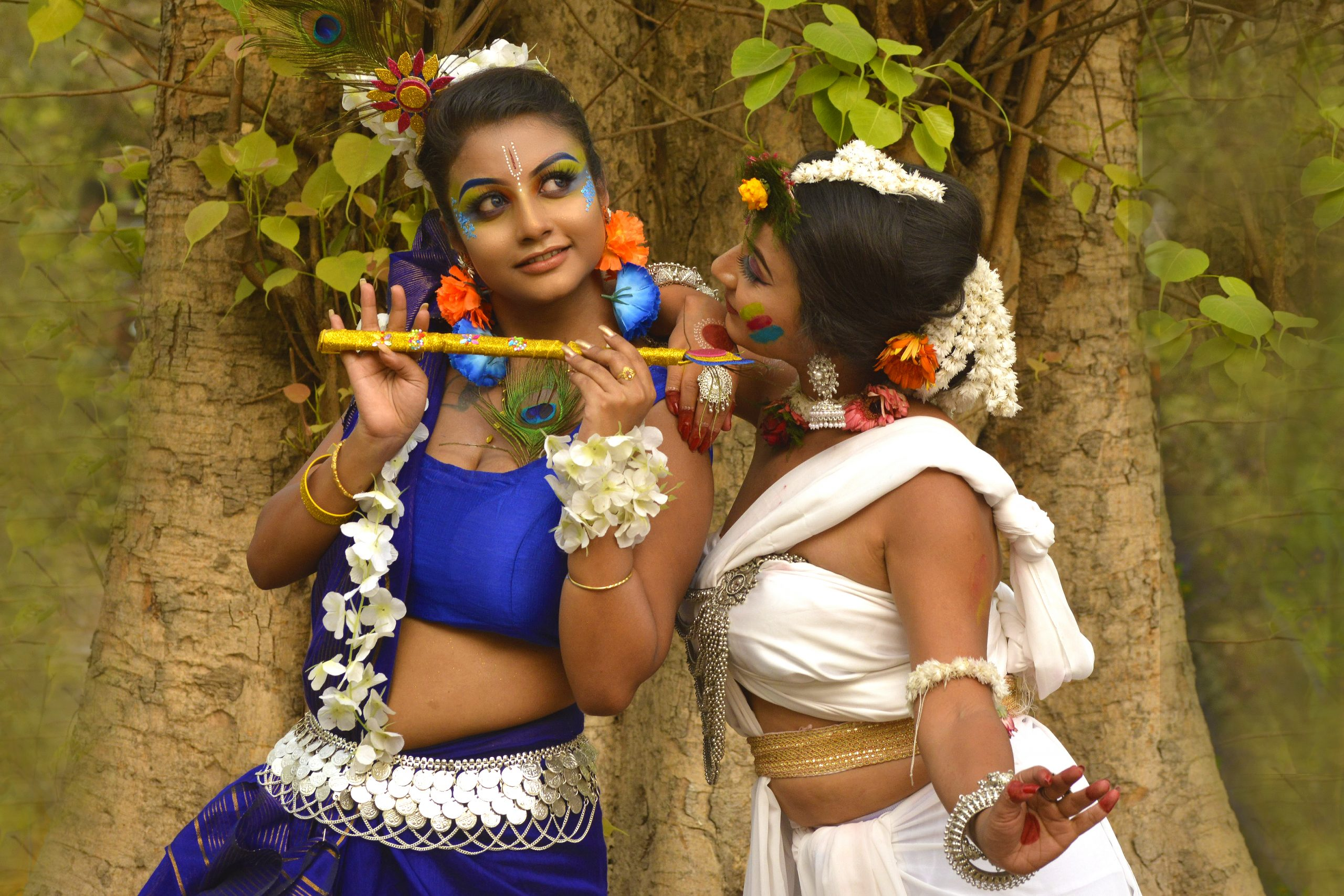Girls in Radha Krishna getup