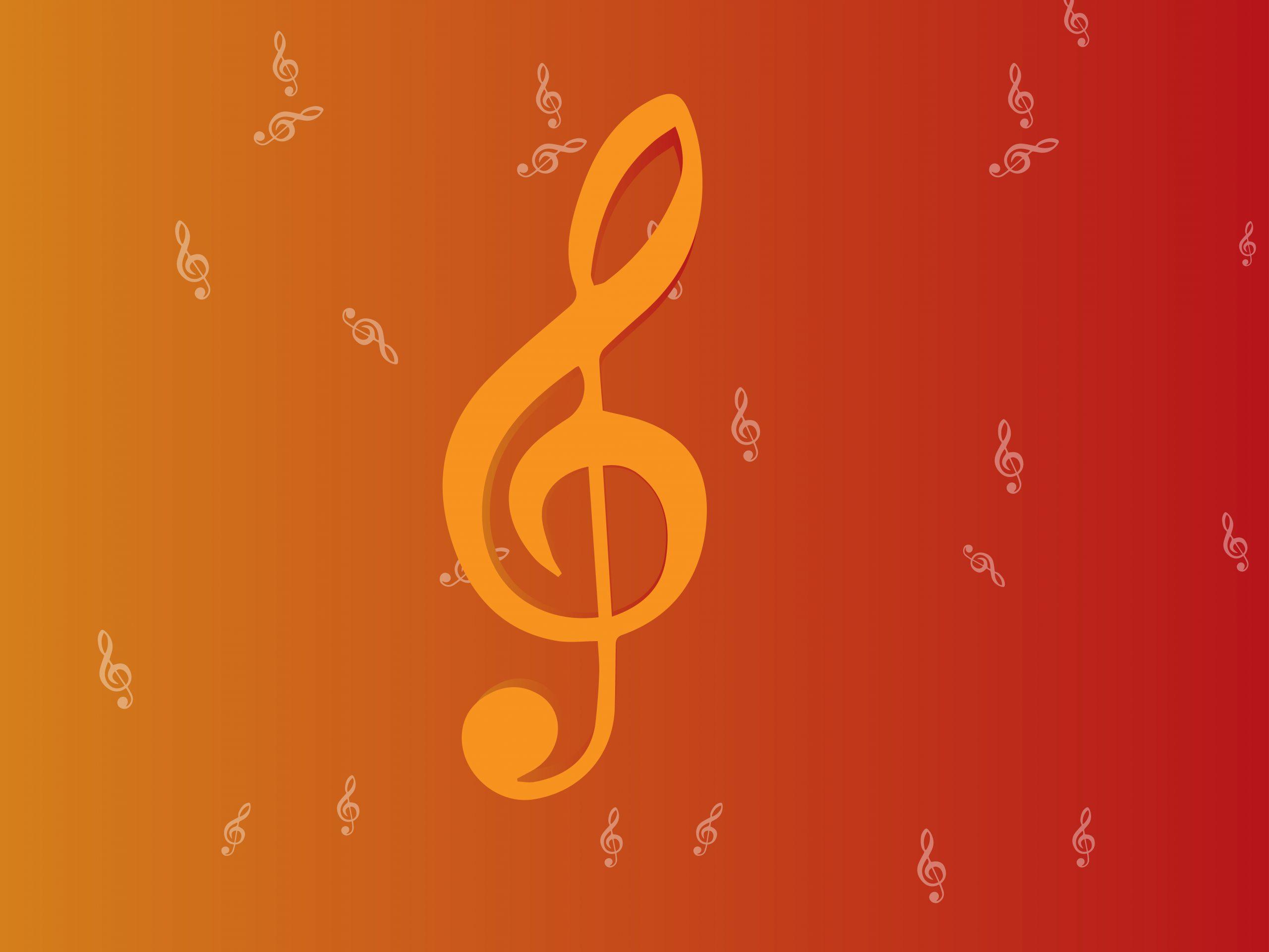 Musical wallpaper illustration