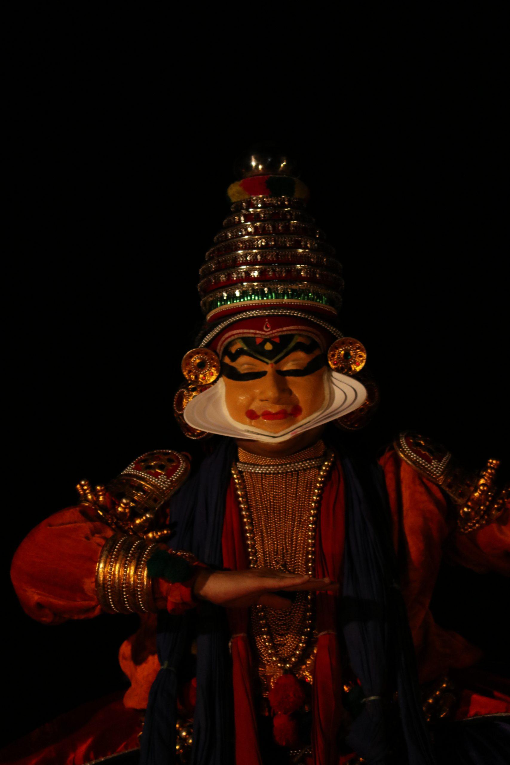 portrait of a kathakali artist
