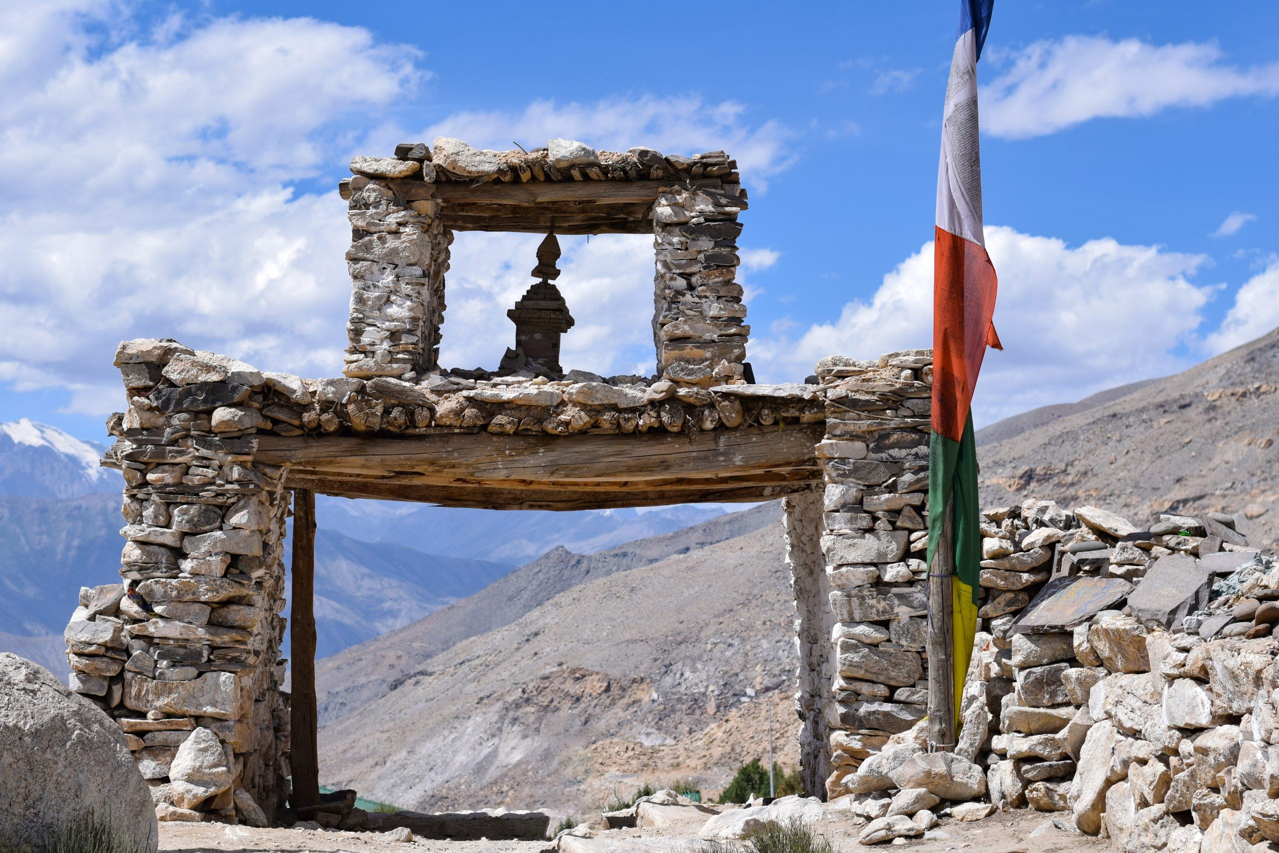 A rock gate in Nako village of Kinnaur