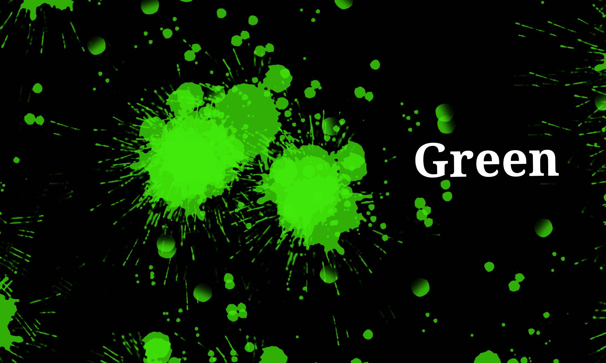 Green color spots