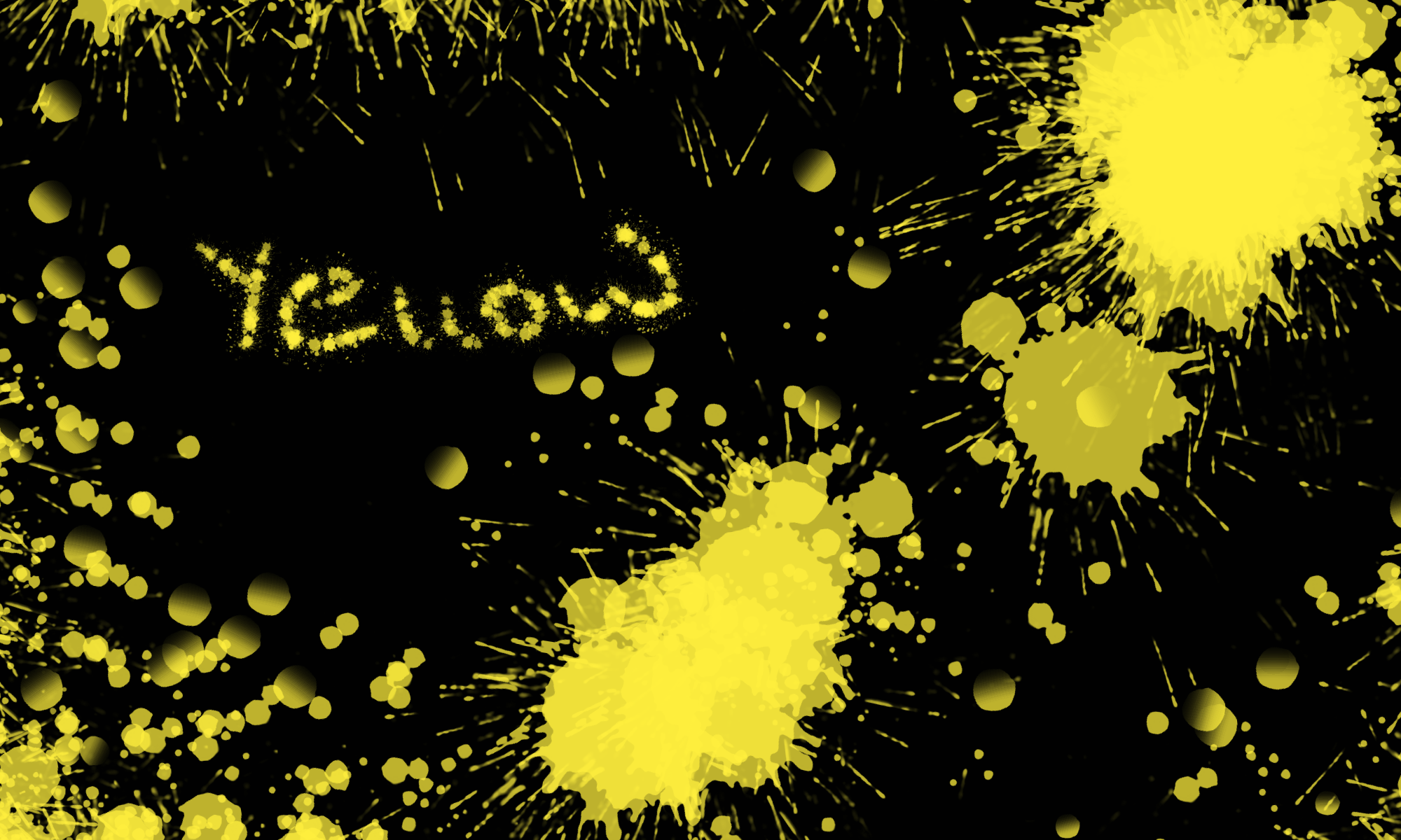 Yellow color stains