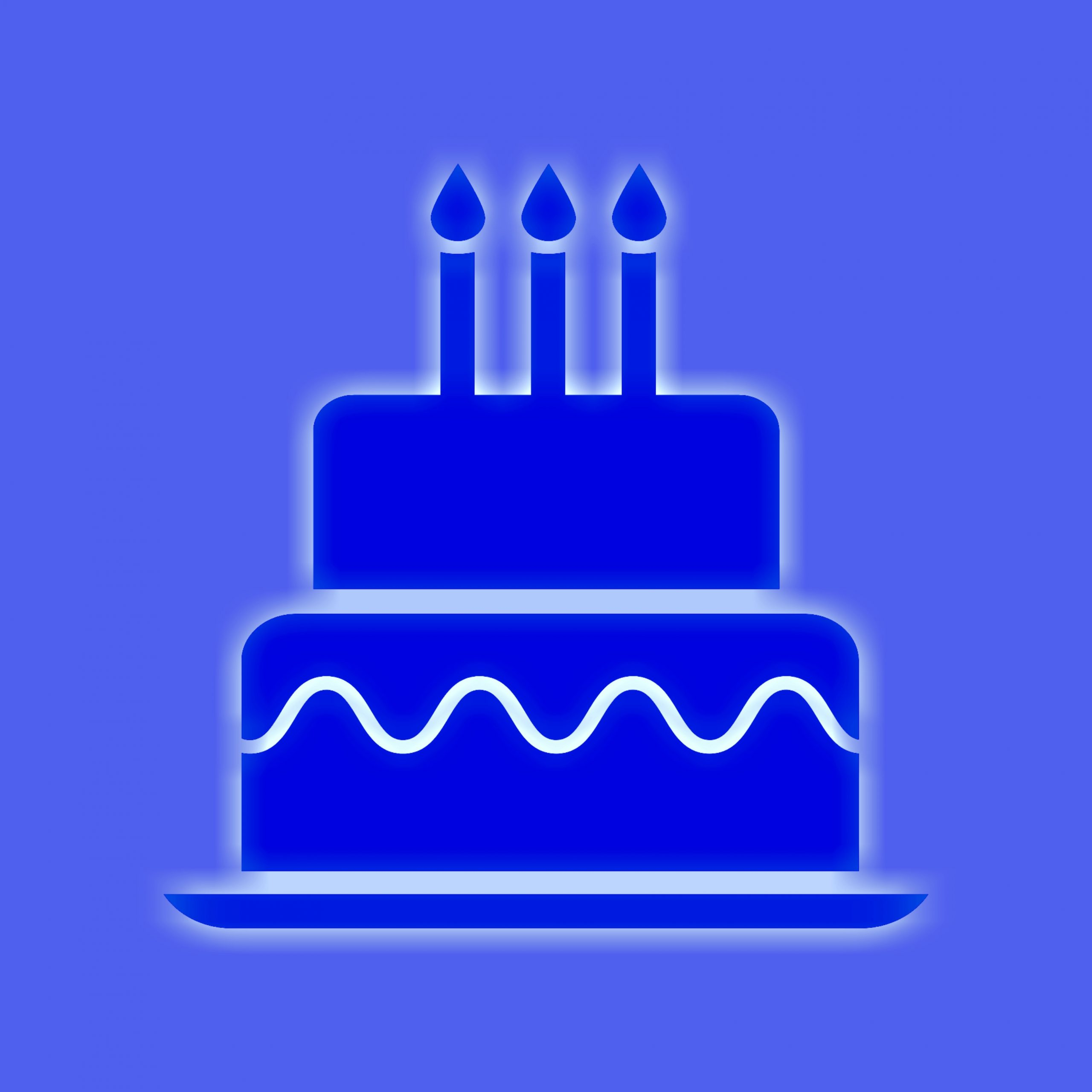 Birthday cake and candles illustration