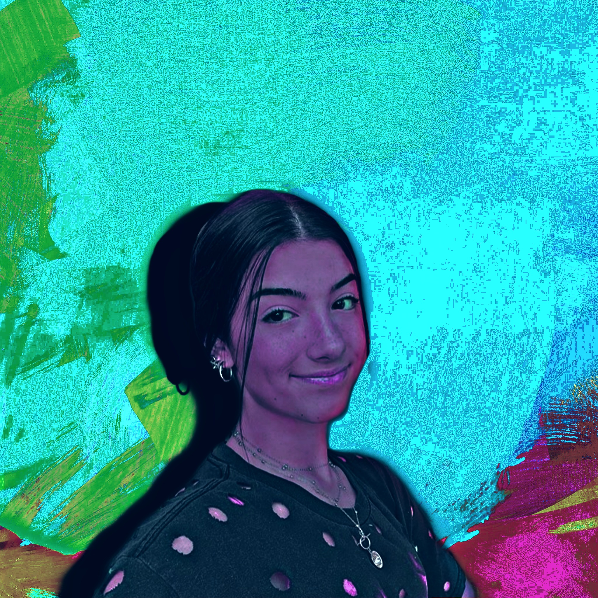 A happy girl illustration