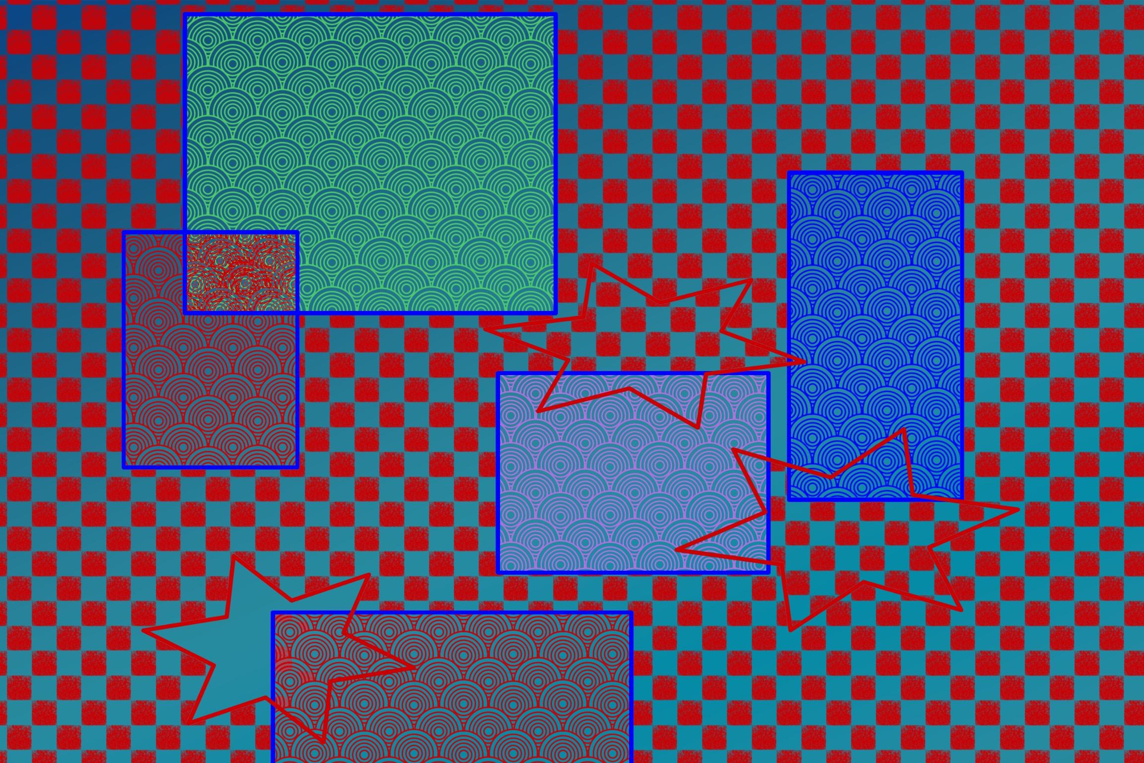 Rectangular shapes illustration