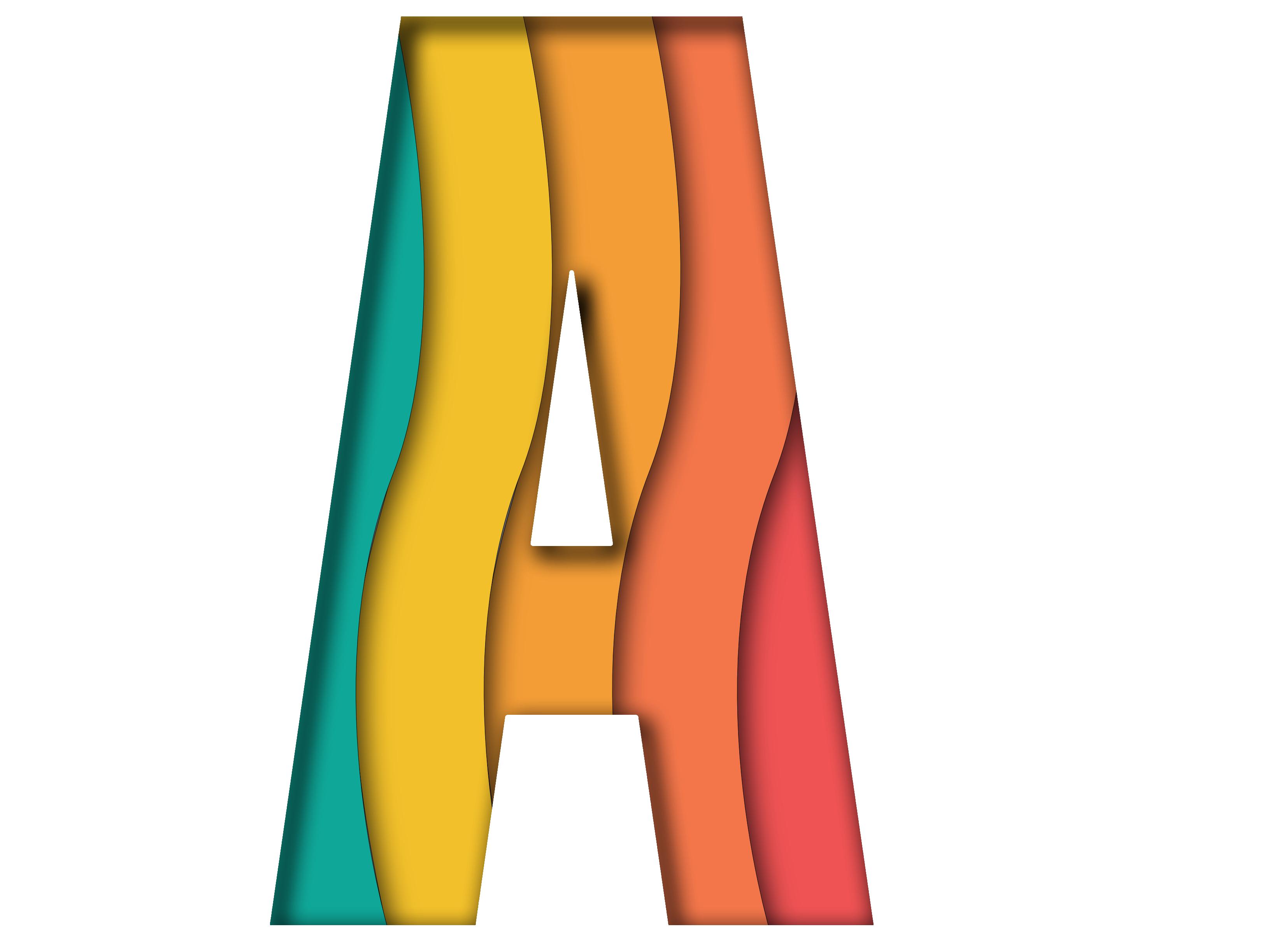 """illustration of letter """"A"""""""
