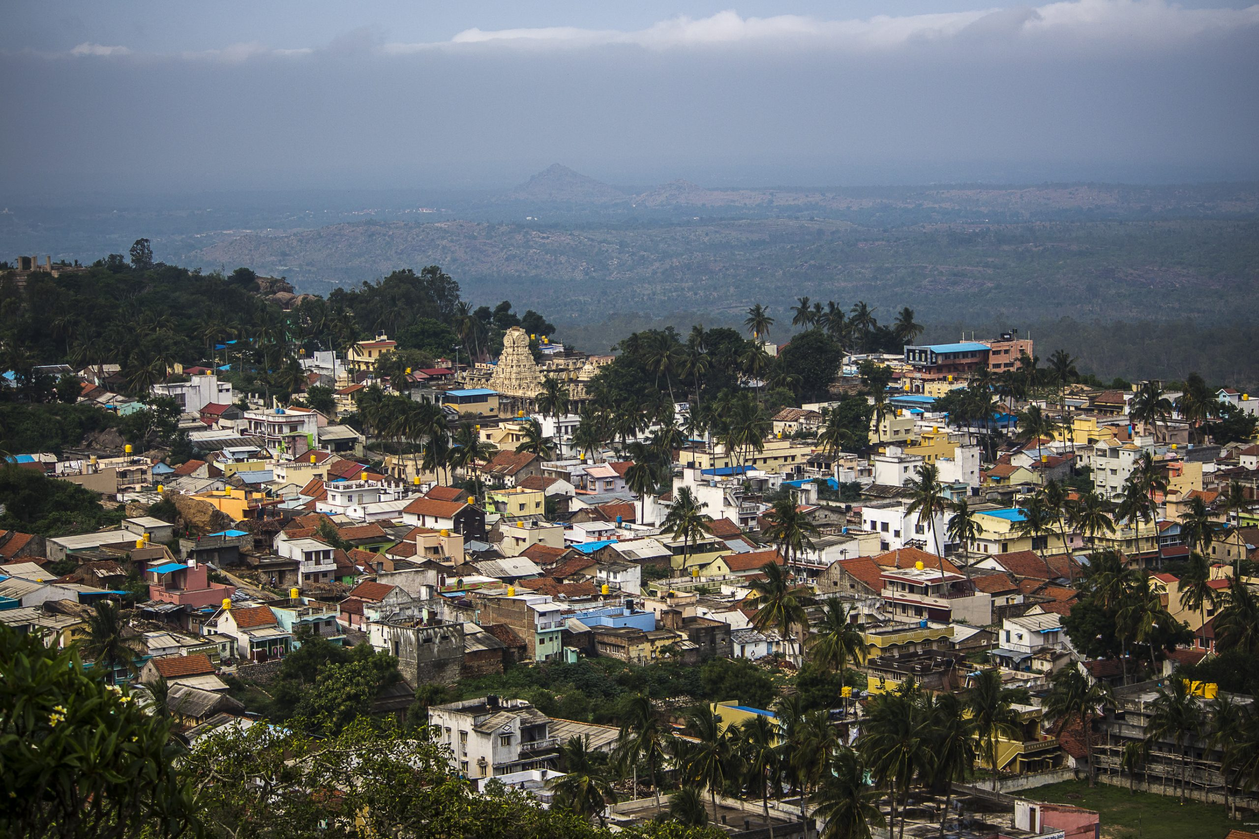 A view of Melukote Town in Karnataka