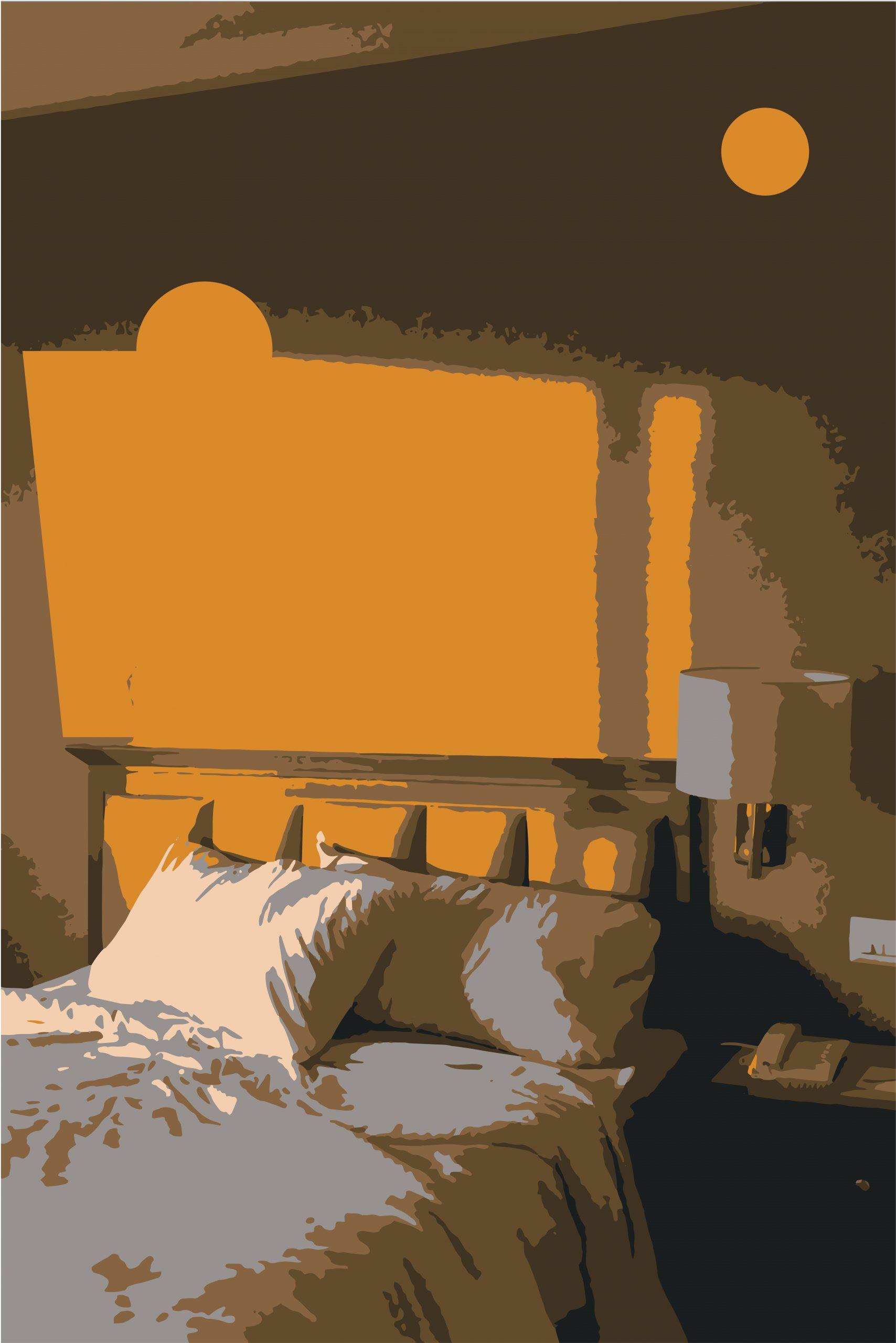 A bed illustration