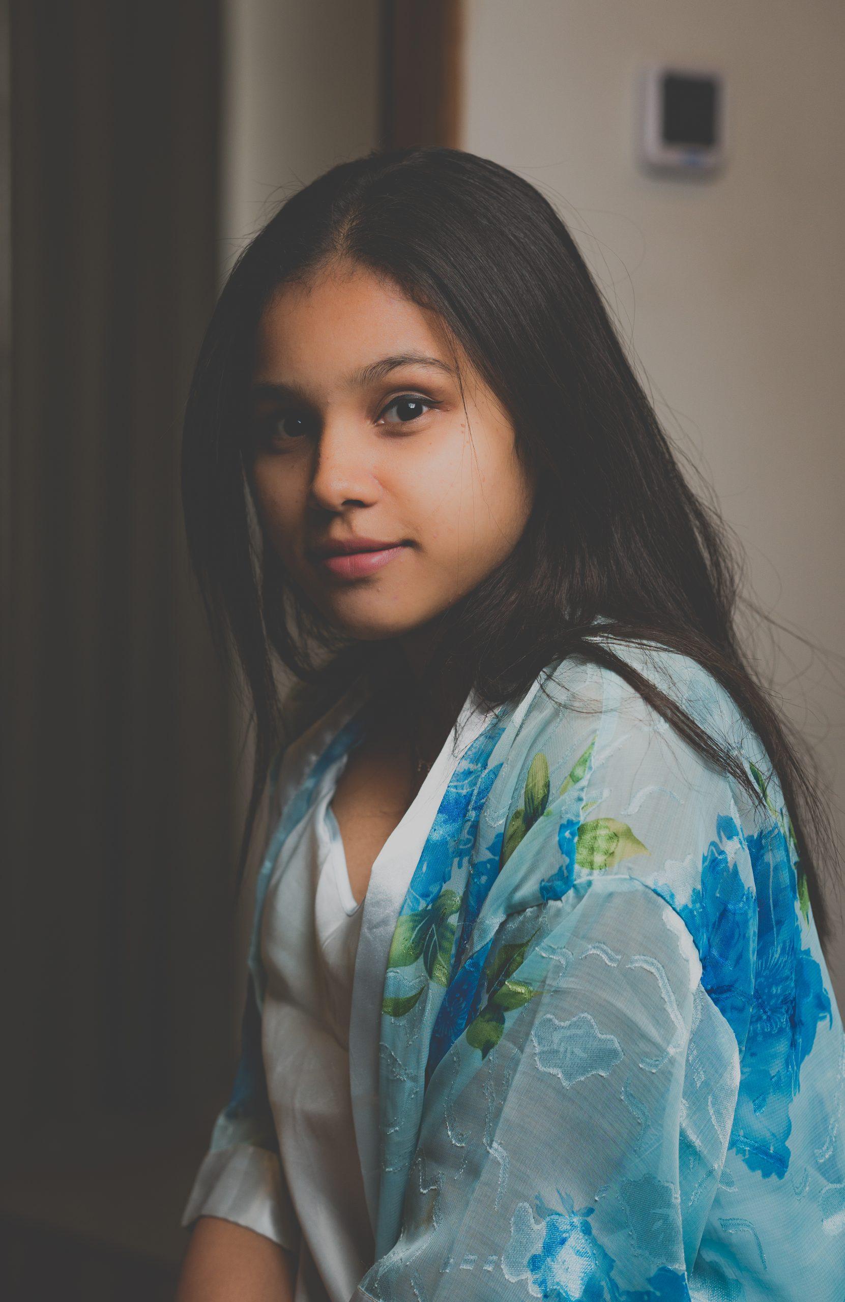 A cute girl