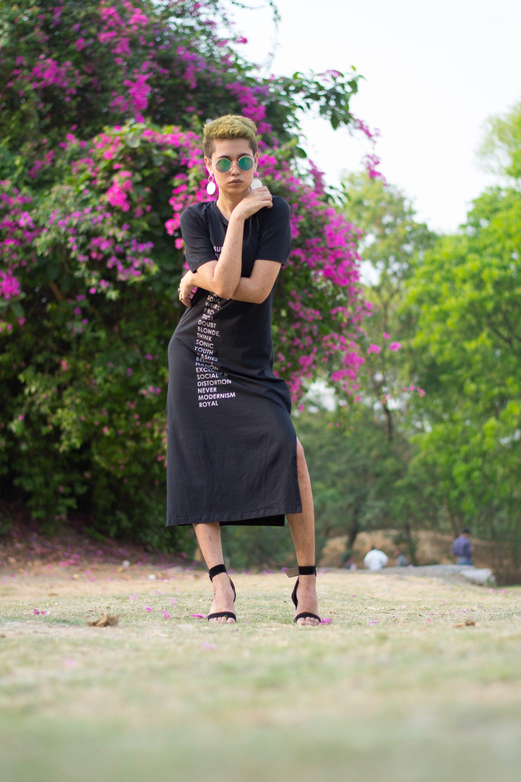 A female fashion model