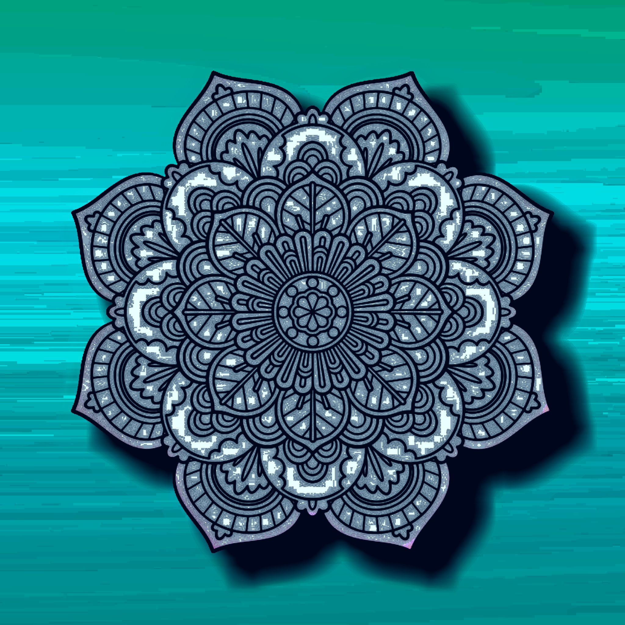A floral design illustration