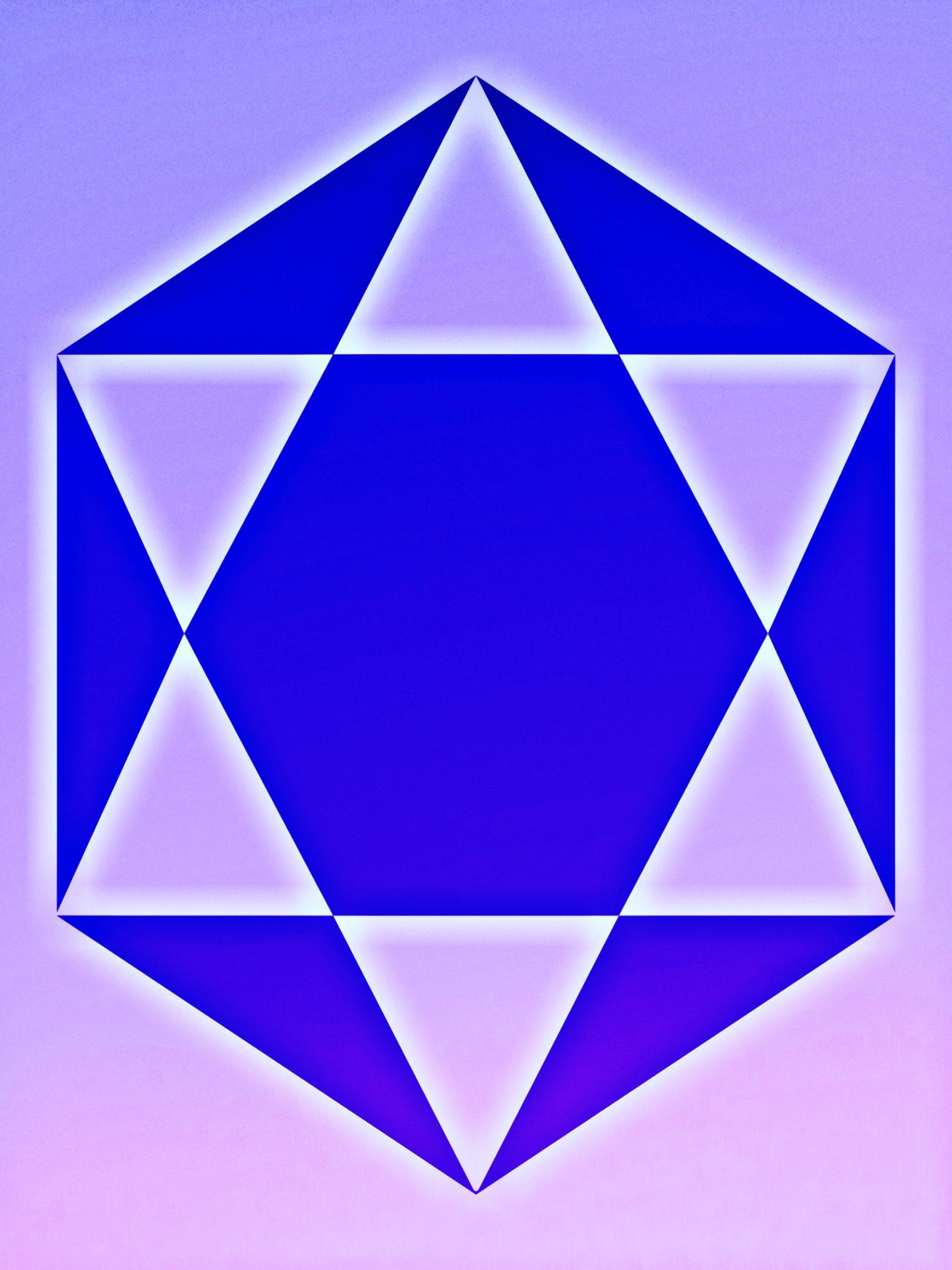 A hexagonal shape