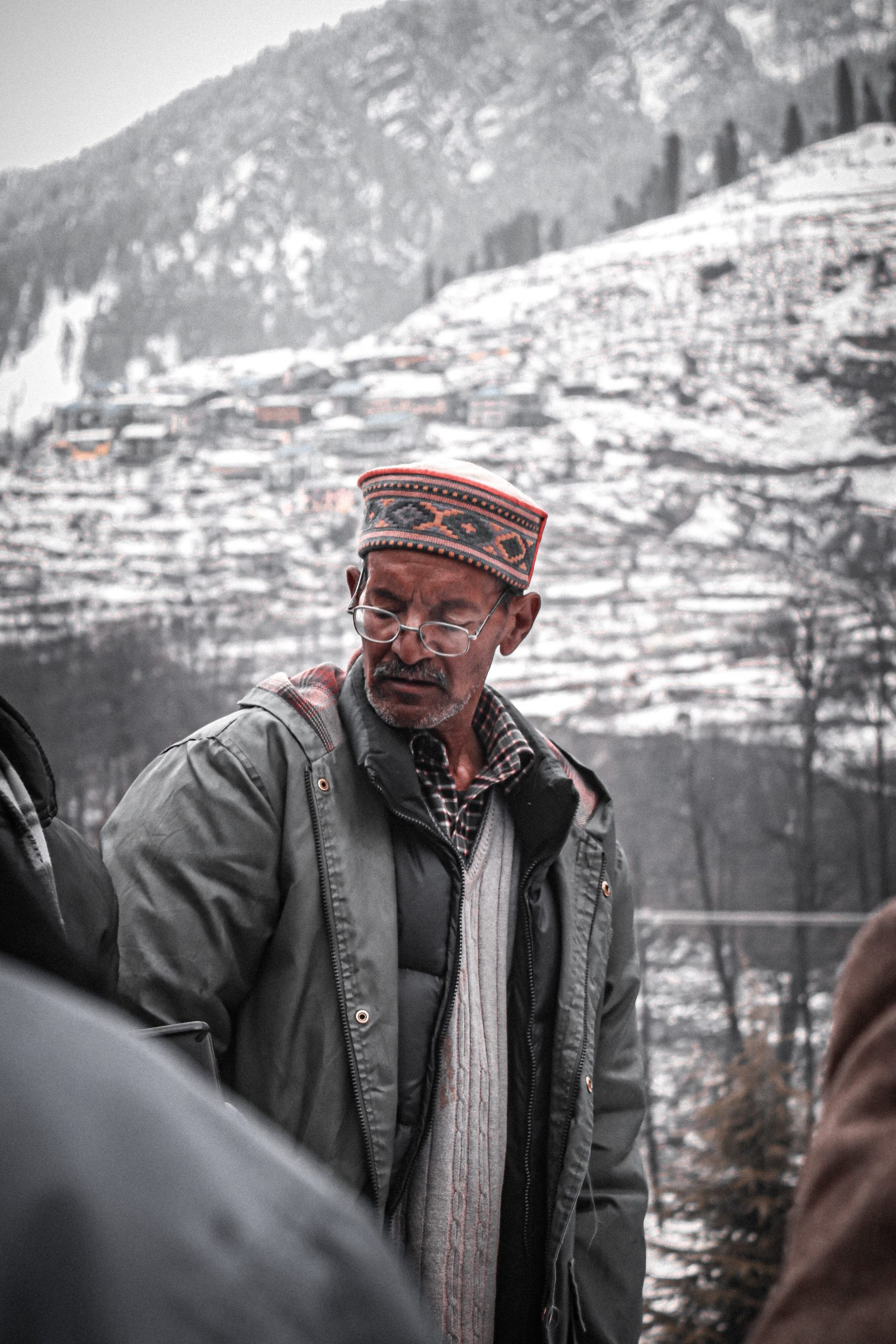 A man in Manali