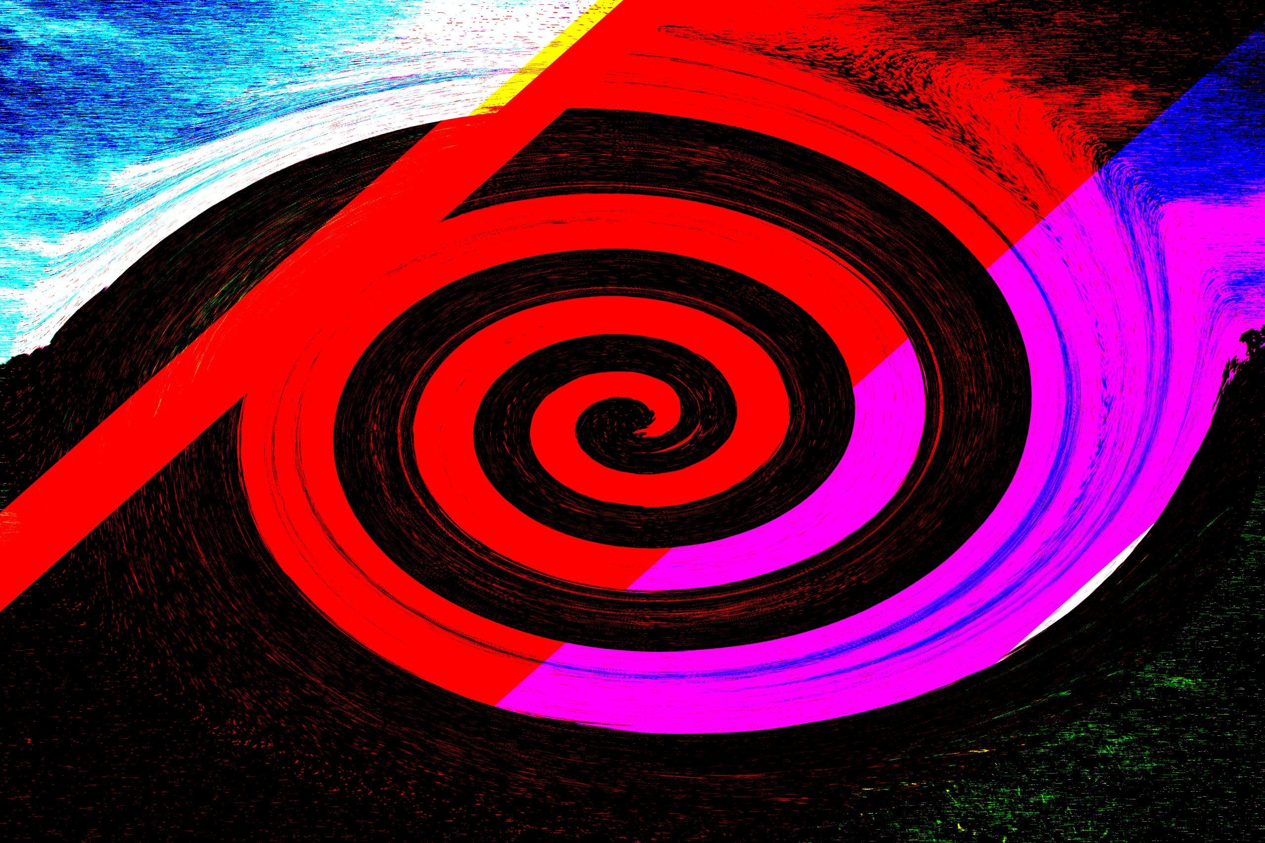 A spiral colorful design