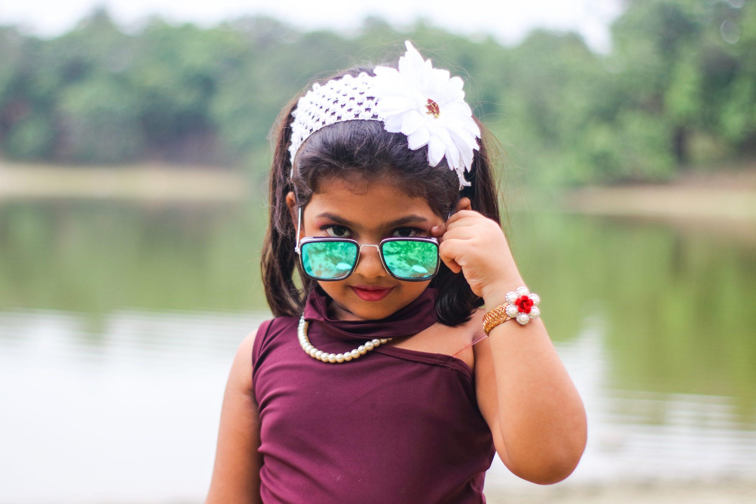 A stylish little girl