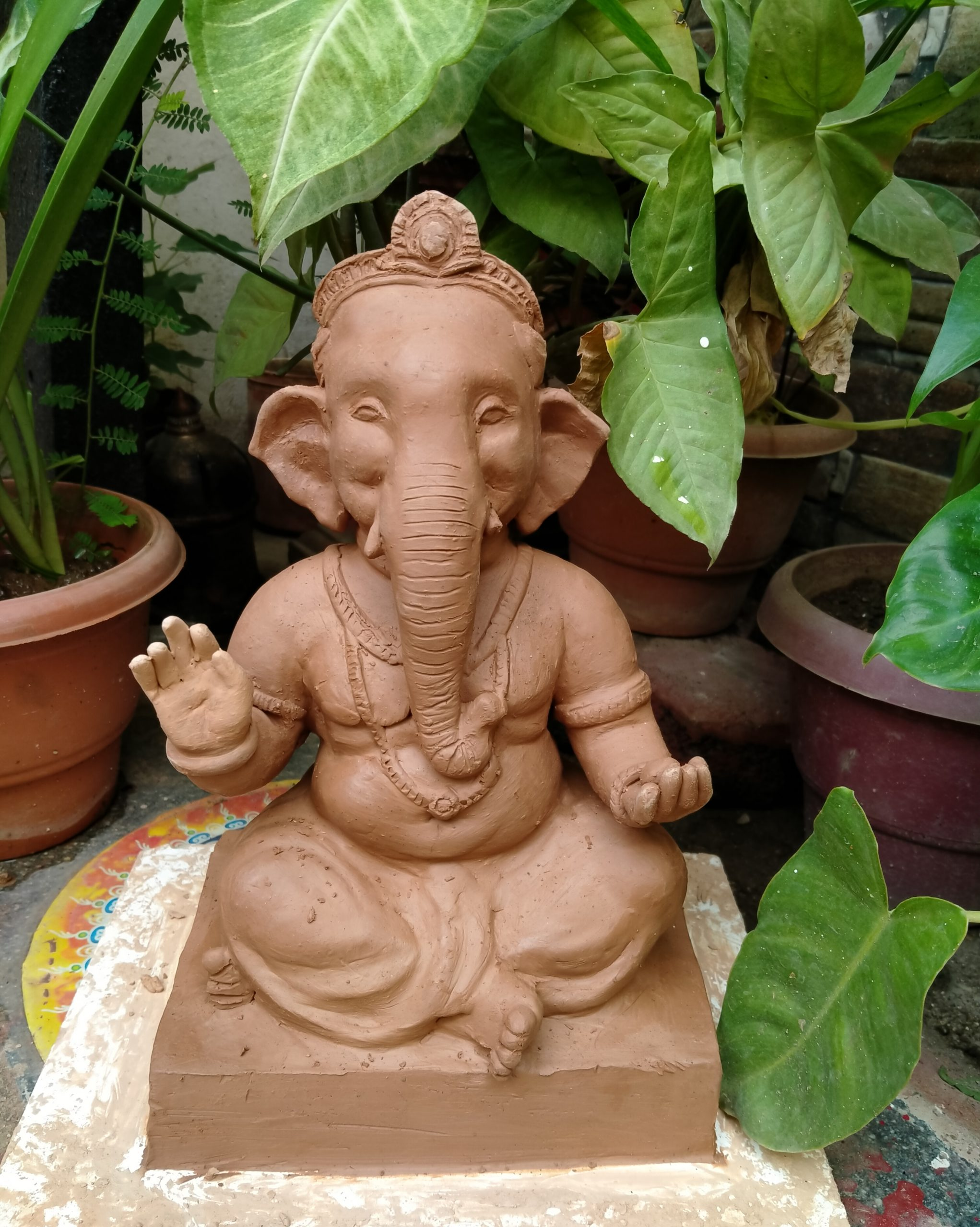 An idol of lord ganesha