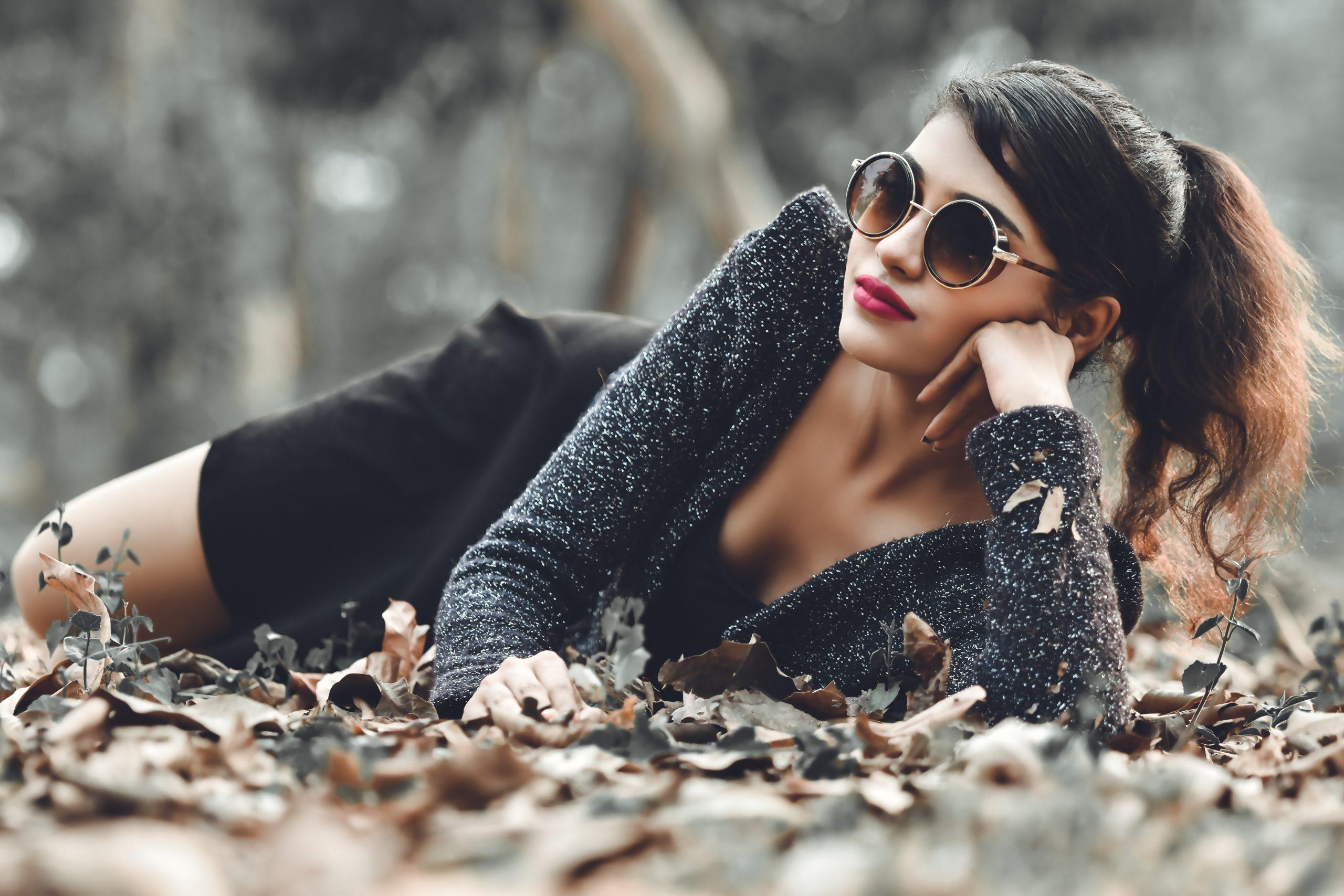 Beautiful female model posing