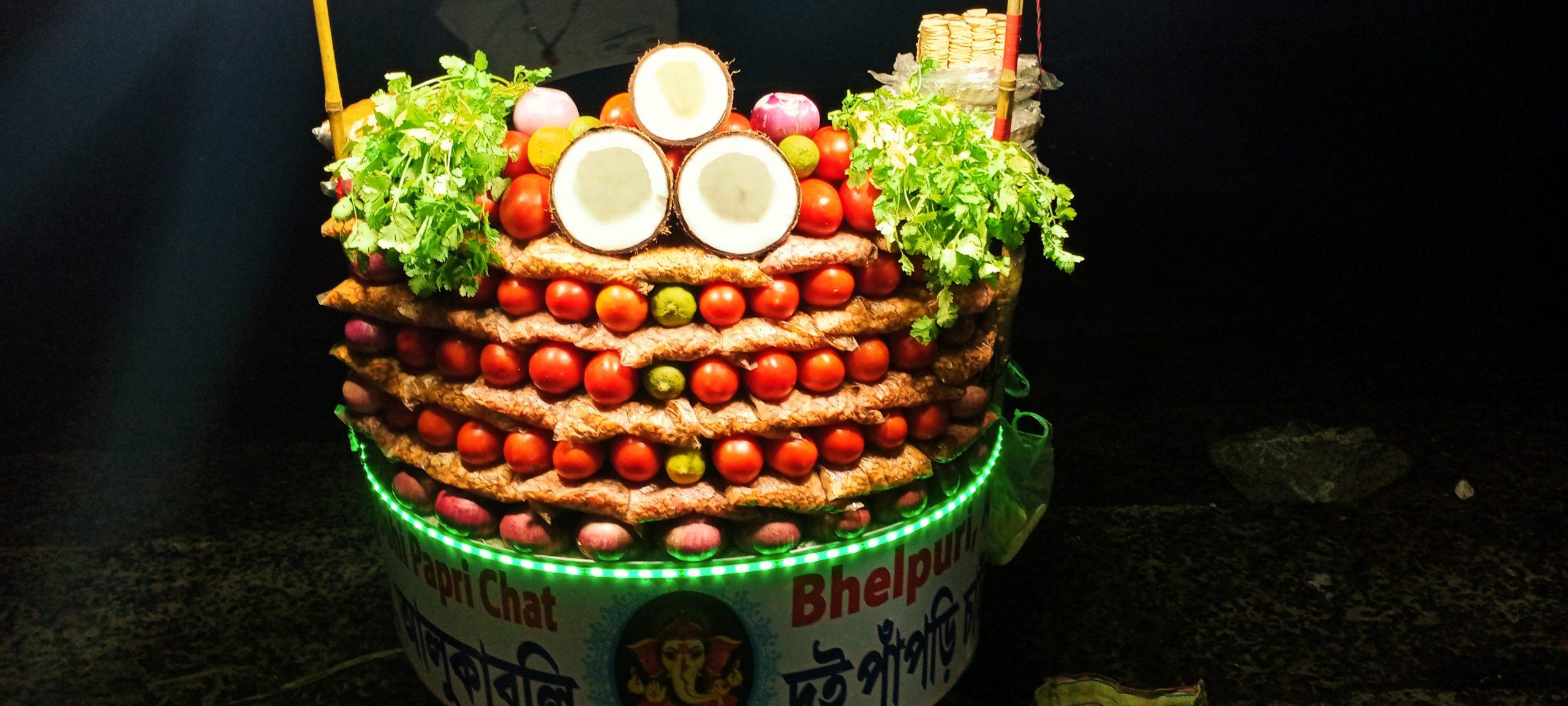 Vegetables arranged in a basket