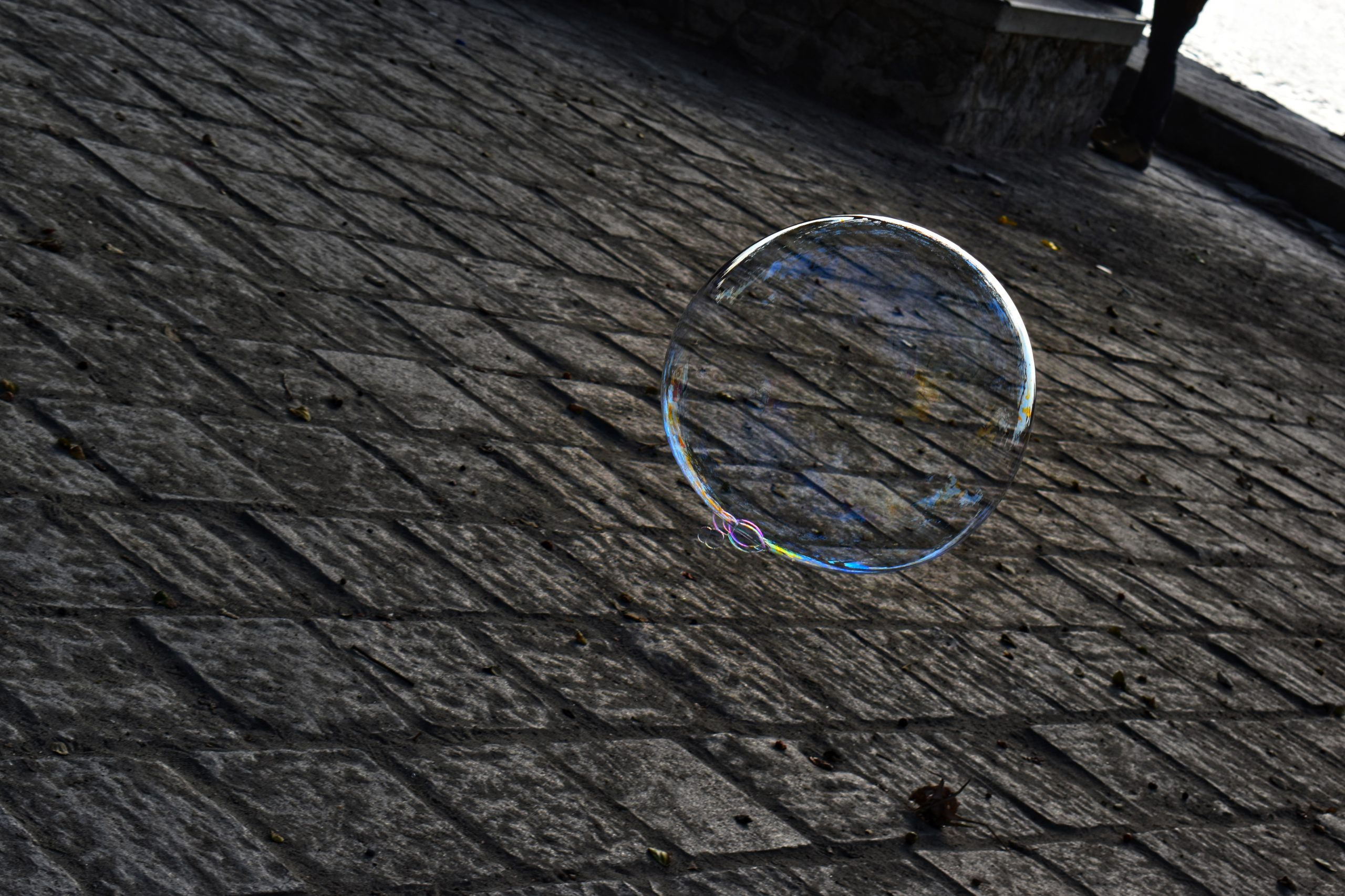 Bubble on the floor