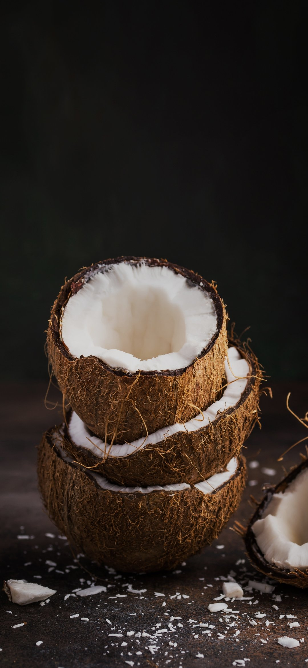 Coconut and coconut rind