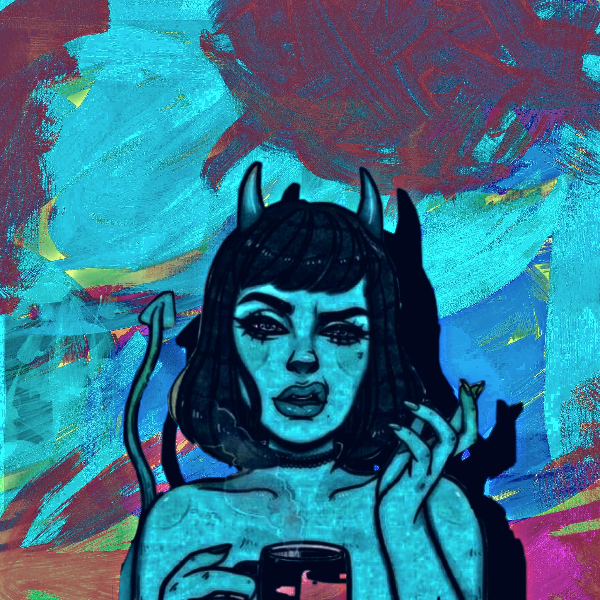 Devil girl illustration