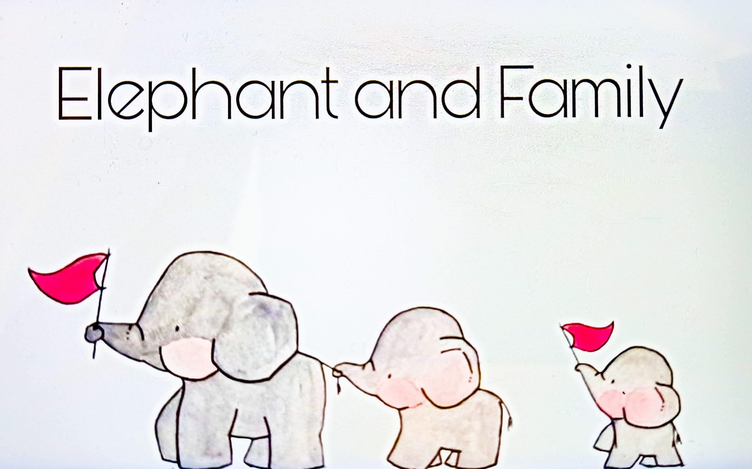 Elephant and Family